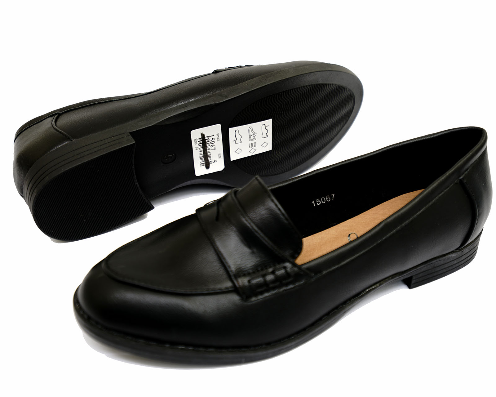 LADIES-BLACK-SLIP-ON-LOAFERS-MOCCASIN-CASUAL-SMART-WORK-COMFY-SCHOOL-SHOES-3-9 thumbnail 8