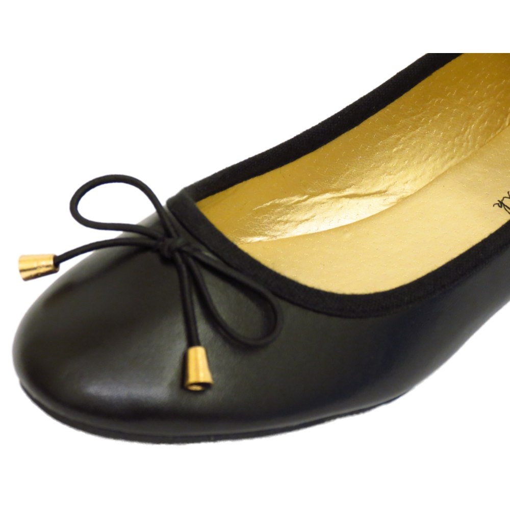 thumbnail 5 - LADIES-FLAT-BLACK-SLIP-ON-WORK-SCHOOL-SHOES-DOLLY-COMFY-BALLET-PUMPS-SIZES-3-8
