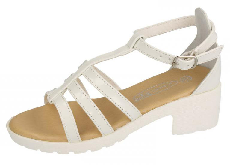 GIRLS GOLD DIAMANTE PLATFORM WEDGE CASUAL SUMMER PARTY SANDALS KIDS SIZE 10-3