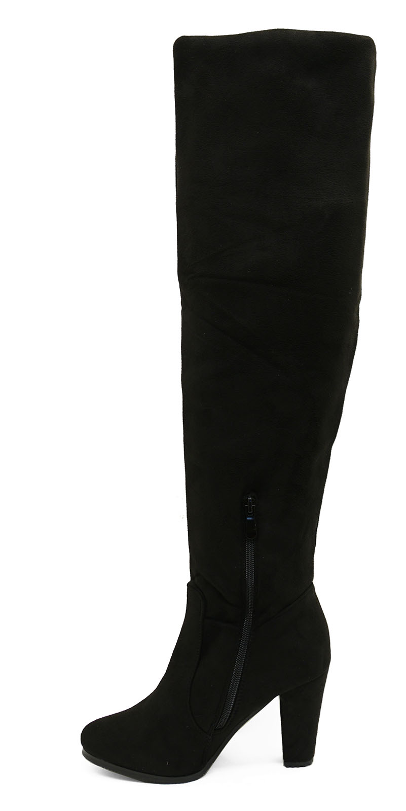 LADIES BLACK SOFT STRETCH OVER THE KNEE