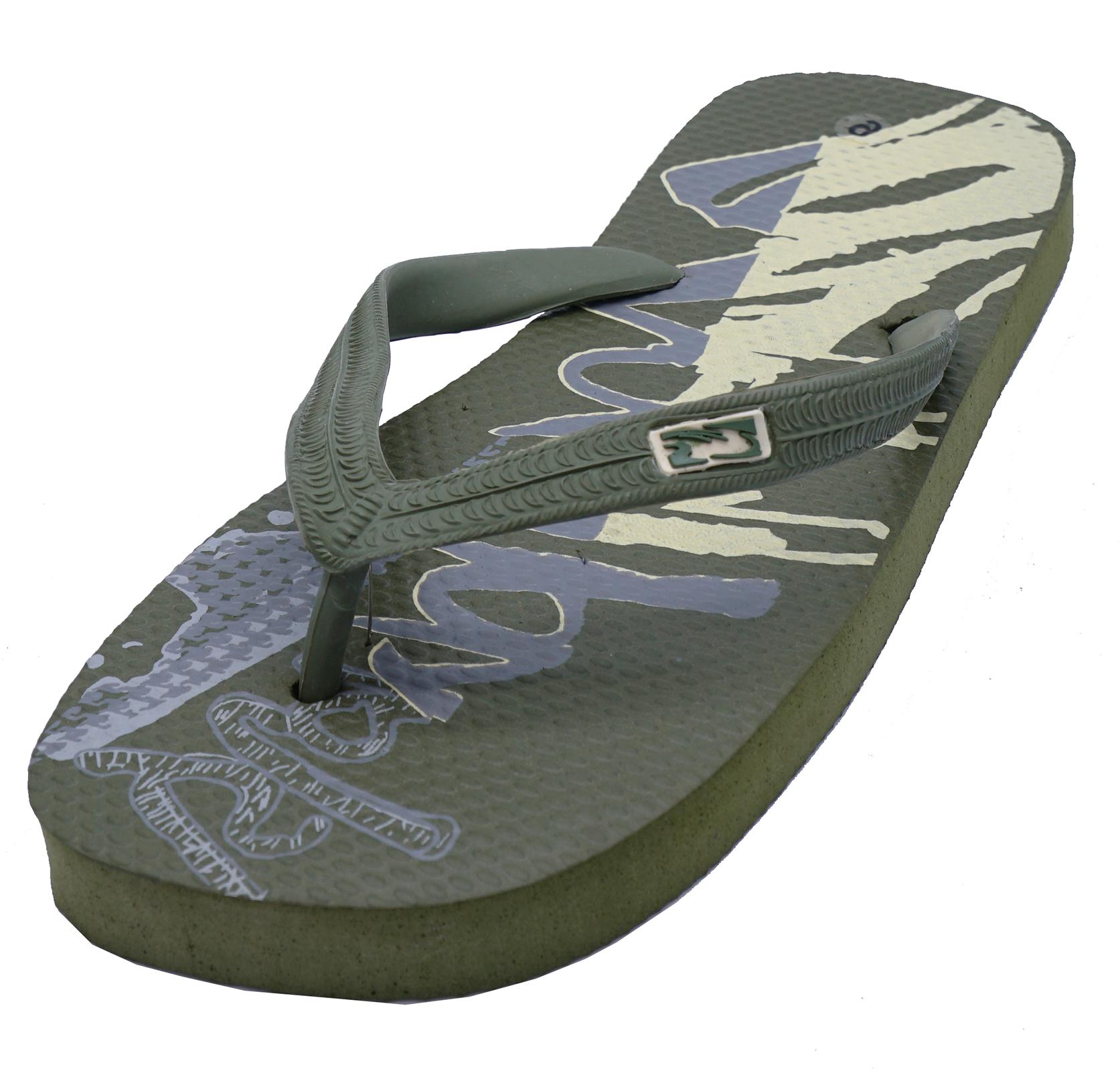 MENS KHAKI TOE-POST SUMMER FLIP-FLOP HOLIDAY BEACH SANDALS POOL SHOES SIZES 7-12
