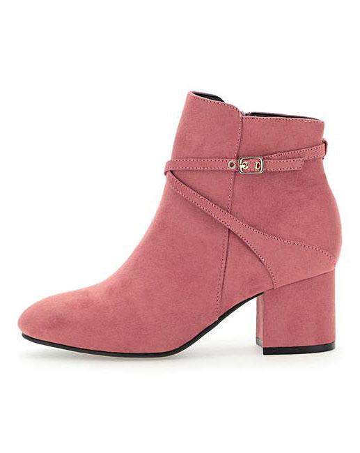 Women/'s Ex MNS Extra Wide Fit Black Patent Brogue Ankle Boots UK 5,EU 38