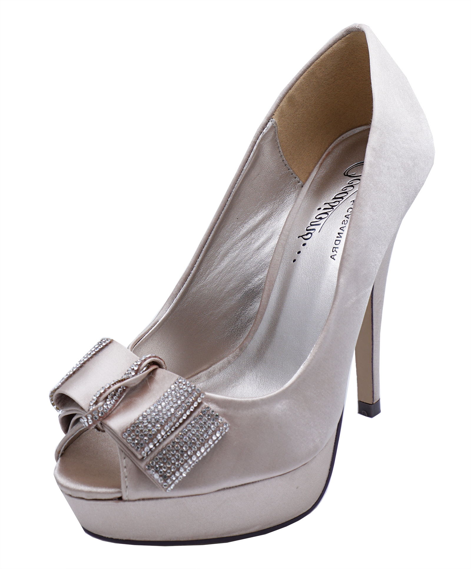 LADIES PINK SLIP-ON SATIN PEEP-TOE PARTY BOW EVENING PROM COURT SHOES SIZE 3-8