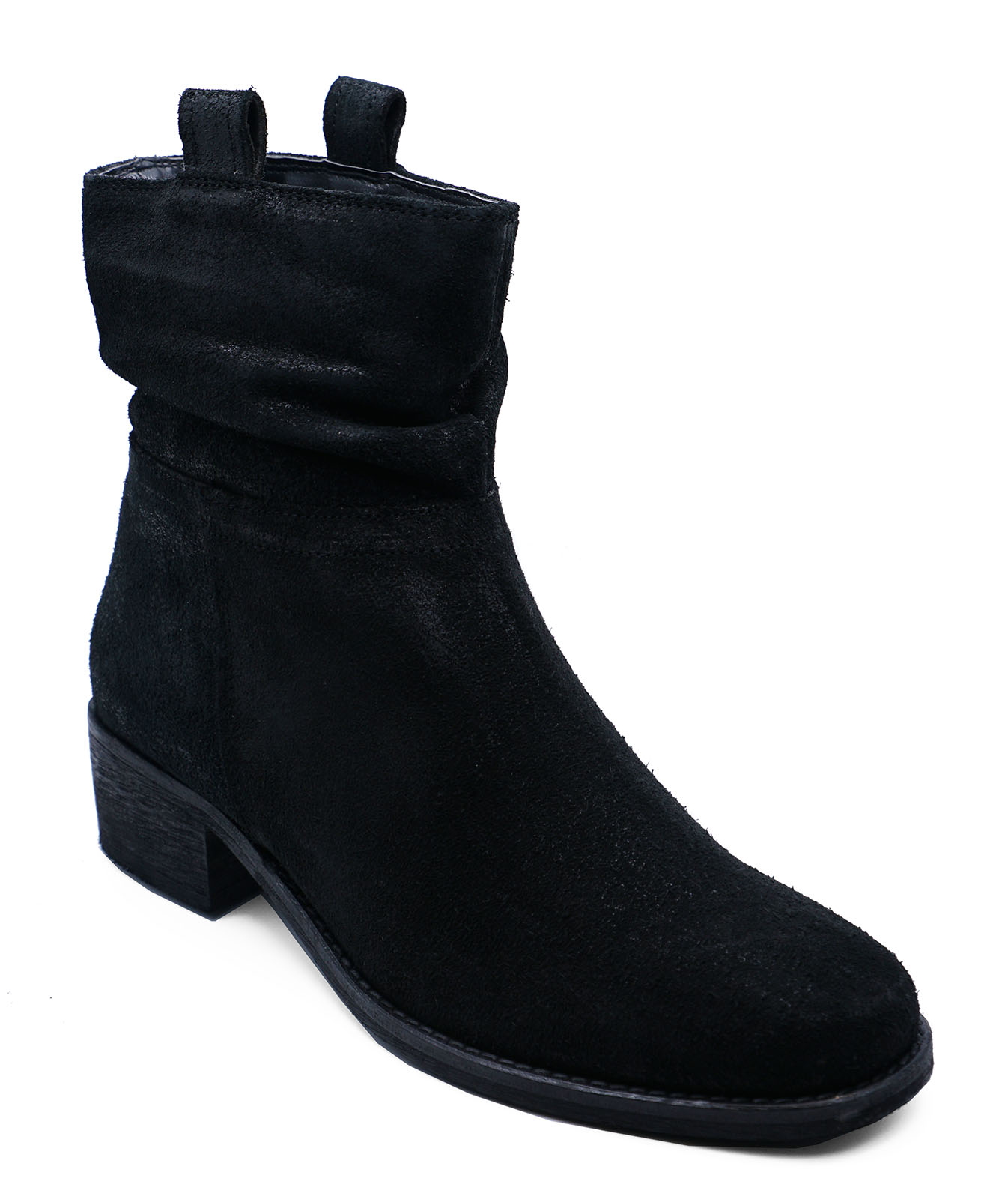 thumbnail 7 - LADIES-GENUINE-LEATHER-BLACK-ZIP-UP-ANKLE-CALF-SLOUCH-BOOTS-COMFY-SHOES-UK-2-9