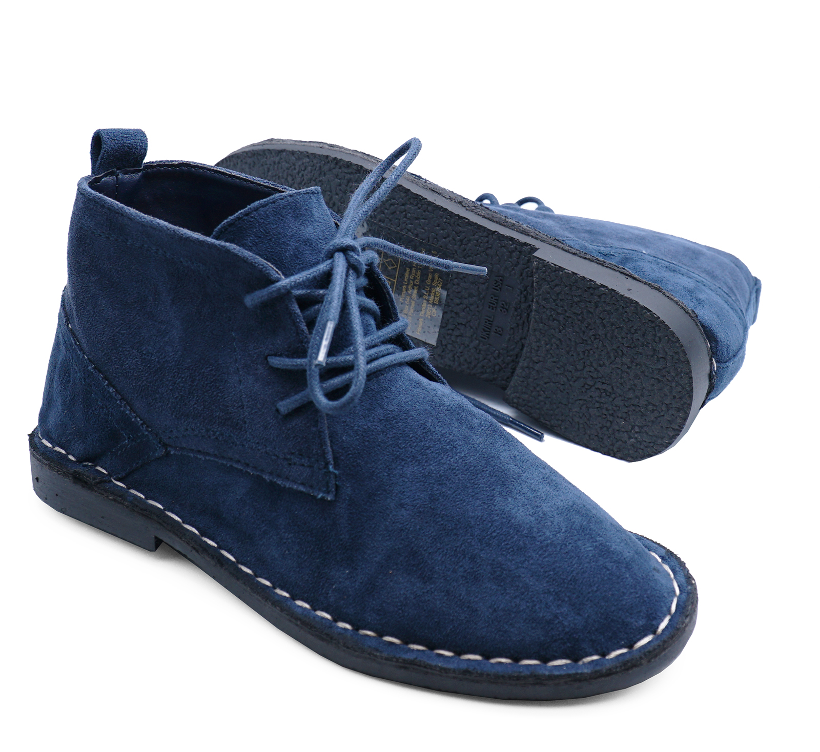 BOYS-KIDS-NAVY-DESERT-DEALER-LACE-UP-SMART-CASUAL-ANKLE-BOOTS-SHOES-SIZES-6-6 thumbnail 6