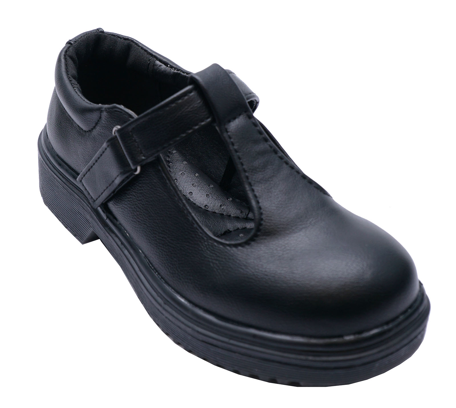 GIRLS BLACK BACK TO SCHOOL BUCKLE ZIP UP CASUAL WINTER BOOTS KIDS UK SIZE 10-5