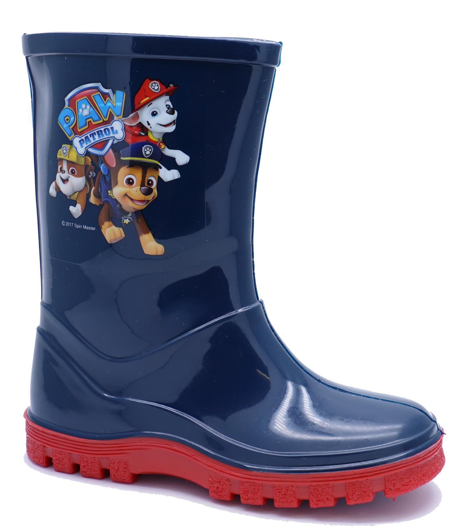 BOYS-KIDS-NAVY-PAW-PATROL-WELLIES-WELLINGTON-SPLASH-RAIN-INFANTS-BOOTS-UK-4-10 thumbnail 5