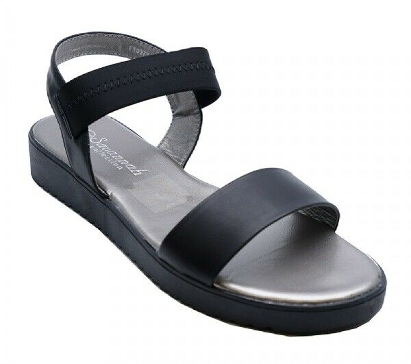 WOMENS SILVER FLAT PEEP-TOE STRAPPY COMFY SUMMER SANDALS SHOES SIZES 3-8