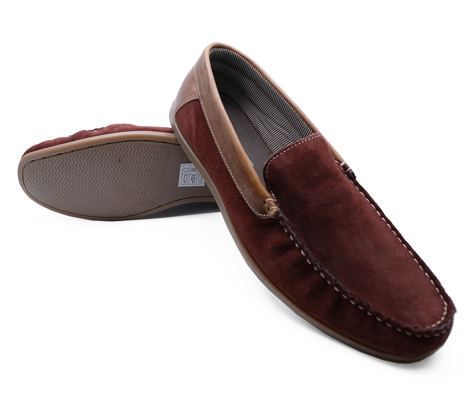 thumbnail 8 - MENS-LEATHER-TAN-BURGUNDY-SLIP-ON-LOAFERS-DRIVING-BOAT-DECK-MOCCASIN-SHOES-6-12