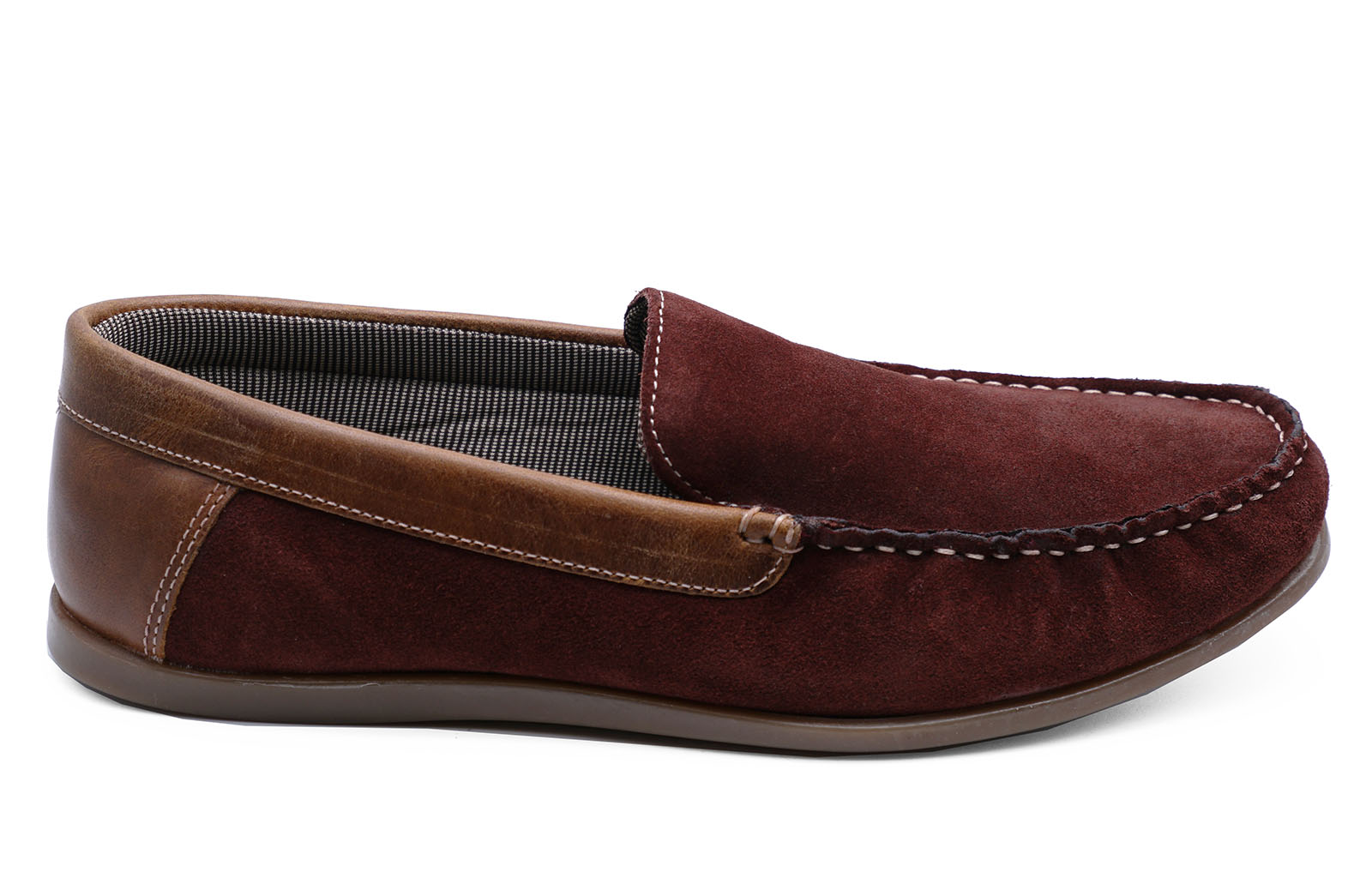 thumbnail 7 - MENS-LEATHER-TAN-BURGUNDY-SLIP-ON-LOAFERS-DRIVING-BOAT-DECK-MOCCASIN-SHOES-6-12