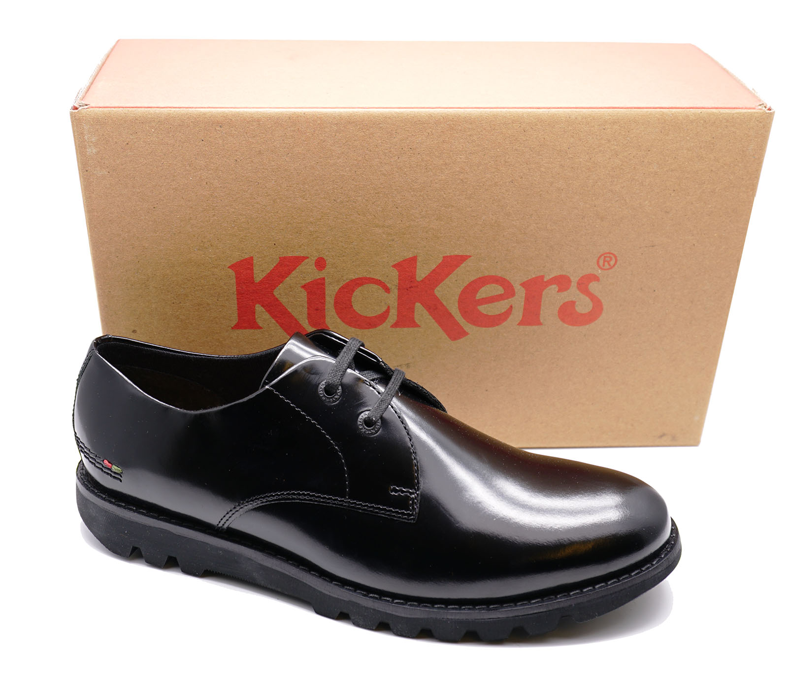 MENS-BLACK-KICKERS-KYMBO-LACE-UP-HI-SHINE-LEATHER-SMART-DERBY-SHOES-SIZES-40-46 thumbnail 10