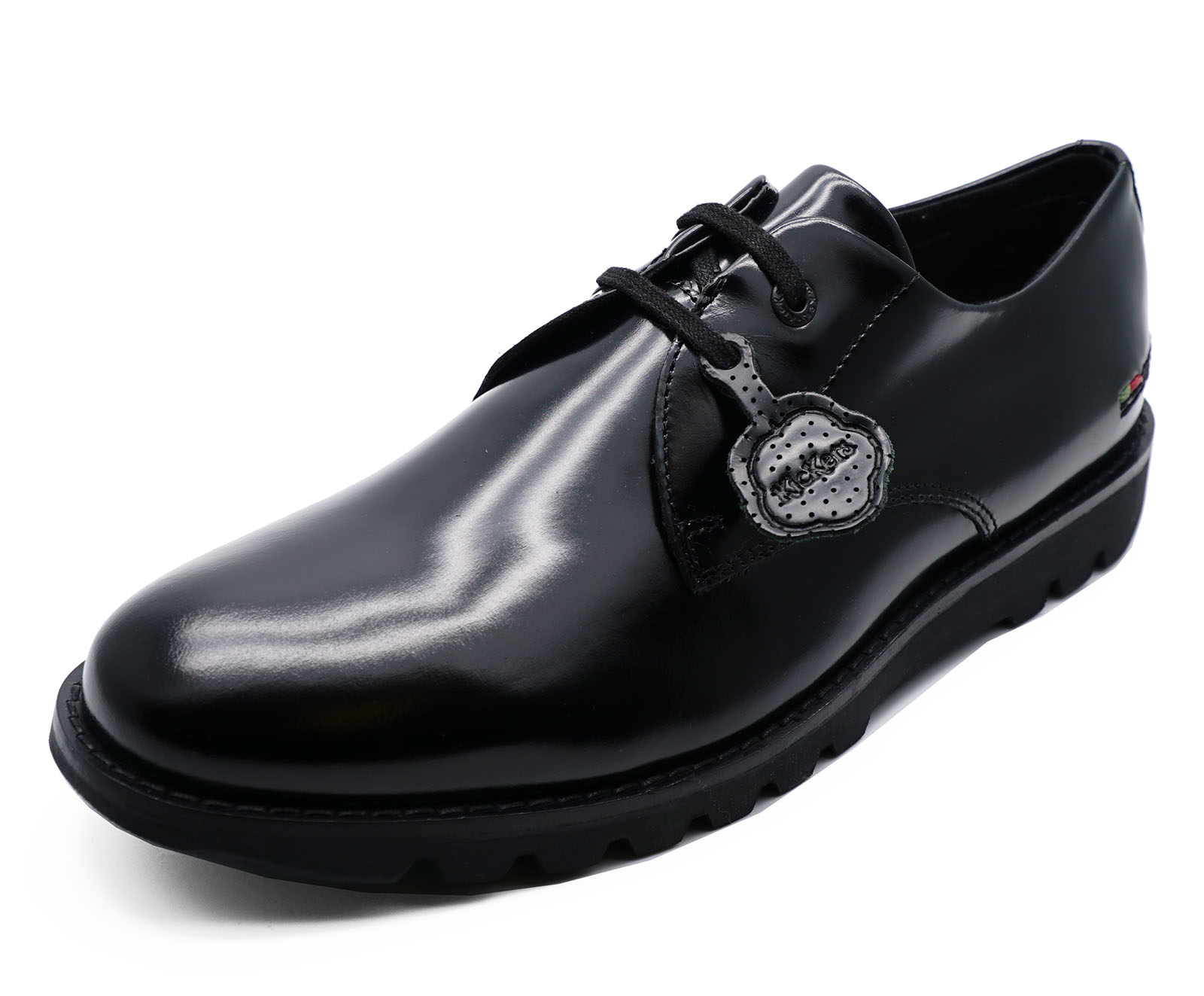 MENS-BLACK-KICKERS-KYMBO-LACE-UP-HI-SHINE-LEATHER-SMART-DERBY-SHOES-SIZES-40-46 thumbnail 8