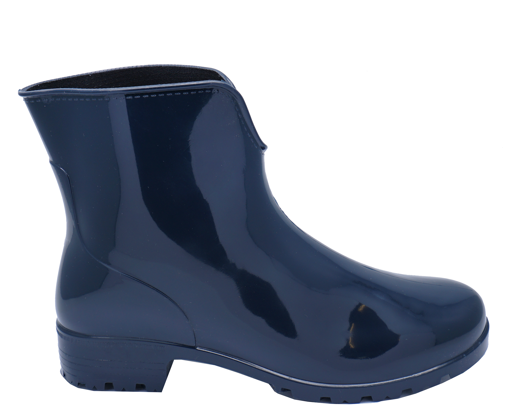 thumbnail 6 - WOMENS-NAVY-ANKLE-GARDEN-WELLIES-WELLINGTON-WALKING-RAIN-BOOTS-SHOES-SIZES-3-8