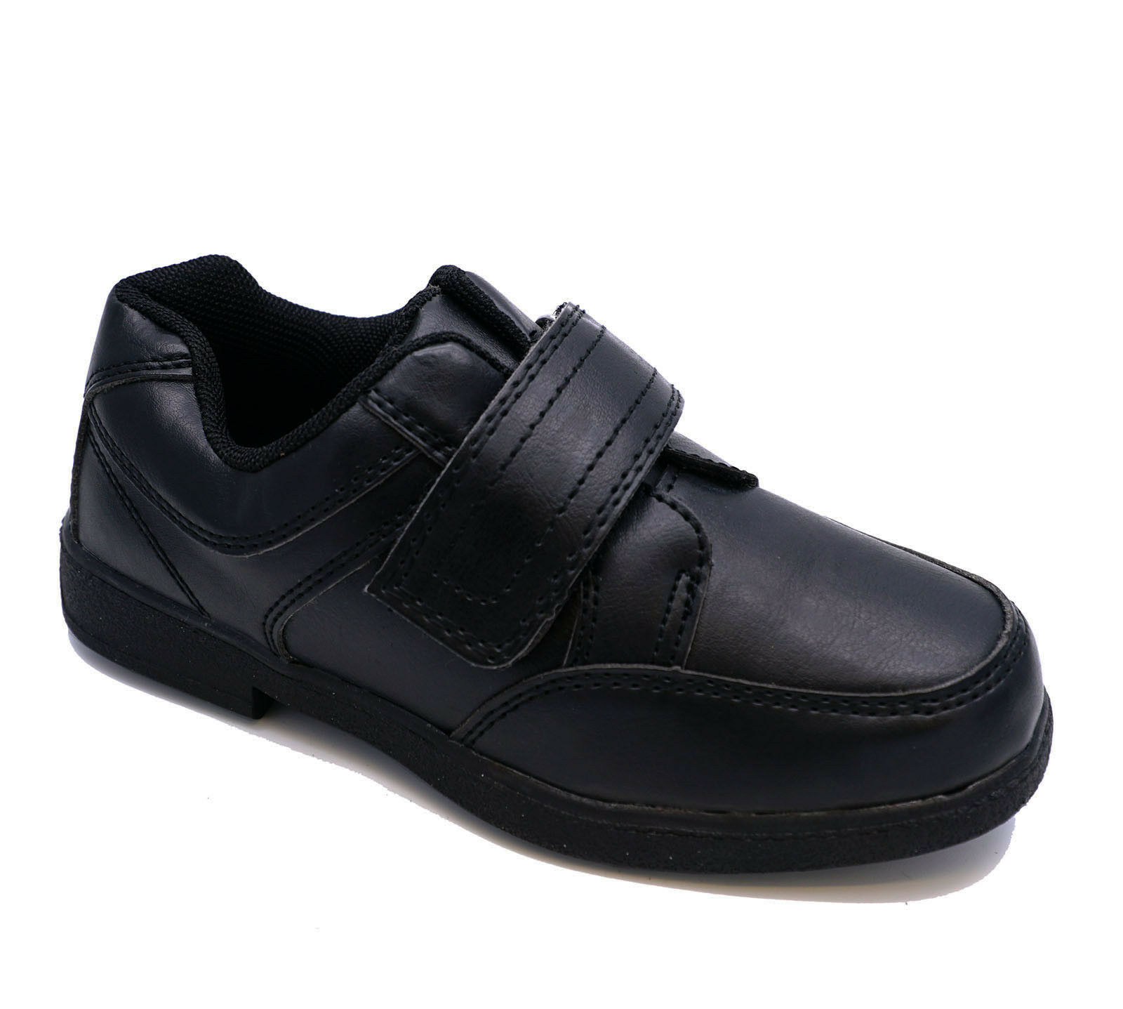 BOYS KIDS CHILDRENS BLACK SCHOOL SLIP-ON SMART FORMAL WEDDING SHOES SIZES 10-3