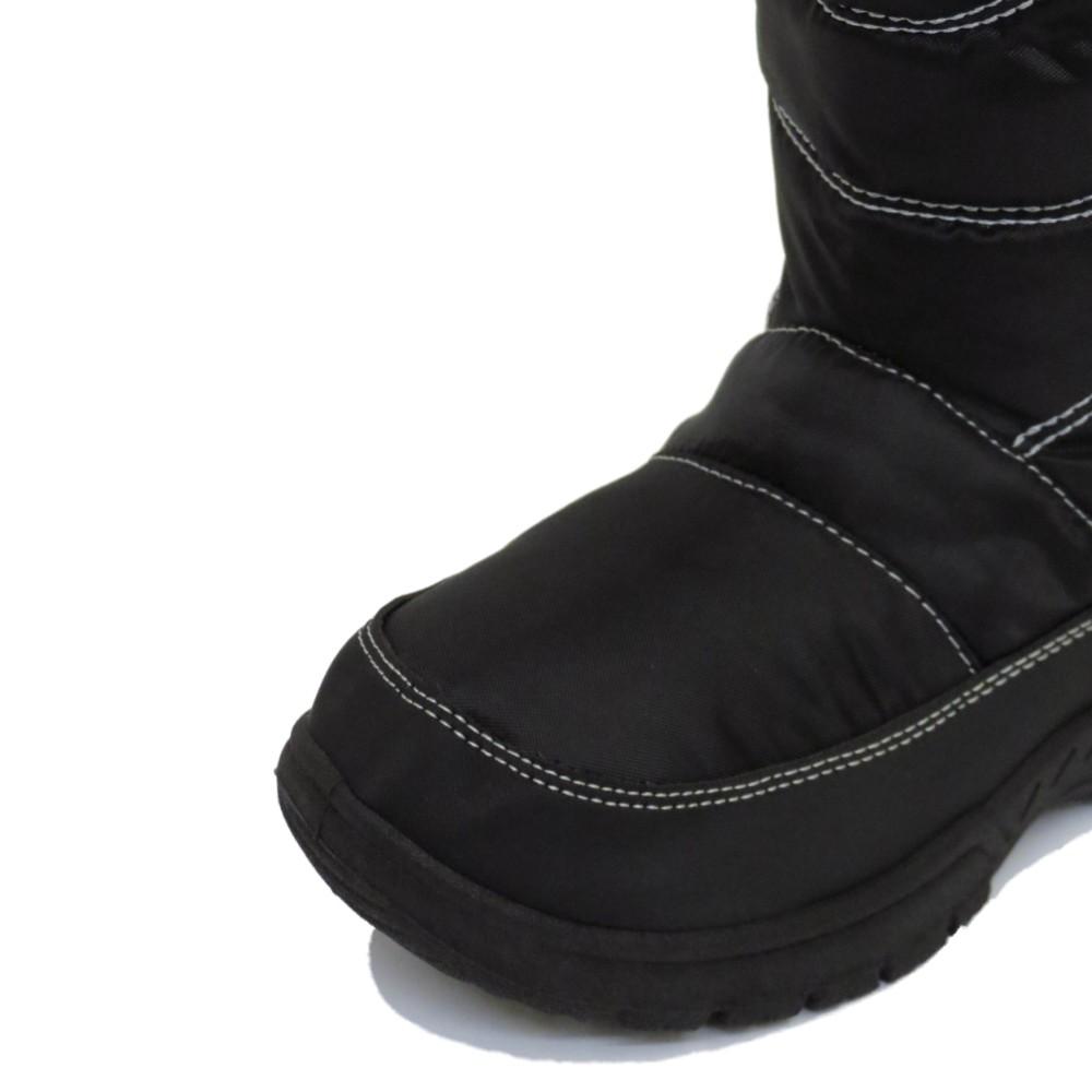 GIRLS-KIDS-BLACK-WINTER-WARM-FUR-ZIP-ICE-SNOW-RAIN-SKI-THERMAL-BOOTS-SIZES-10-2 thumbnail 10