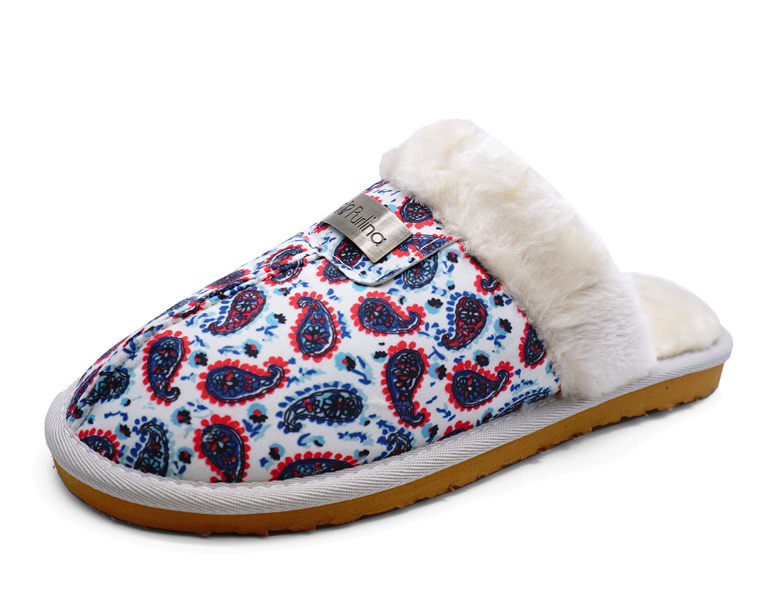 WOMENS DAISY FUR-LINED SLIP-ON SLIPPERS MULES LUXURY GIFT SLIDER INDOOR SHOES 3