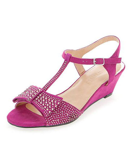 LADIES-EXTRA-WIDE-FIT-EEE-MAGENTA-PEEP-TOE-SANDALS-WEDDING-PARTY-SHOES-SIZES-4-9 thumbnail 7