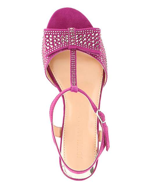 LADIES-EXTRA-WIDE-FIT-EEE-MAGENTA-PEEP-TOE-SANDALS-WEDDING-PARTY-SHOES-SIZES-4-9 thumbnail 3