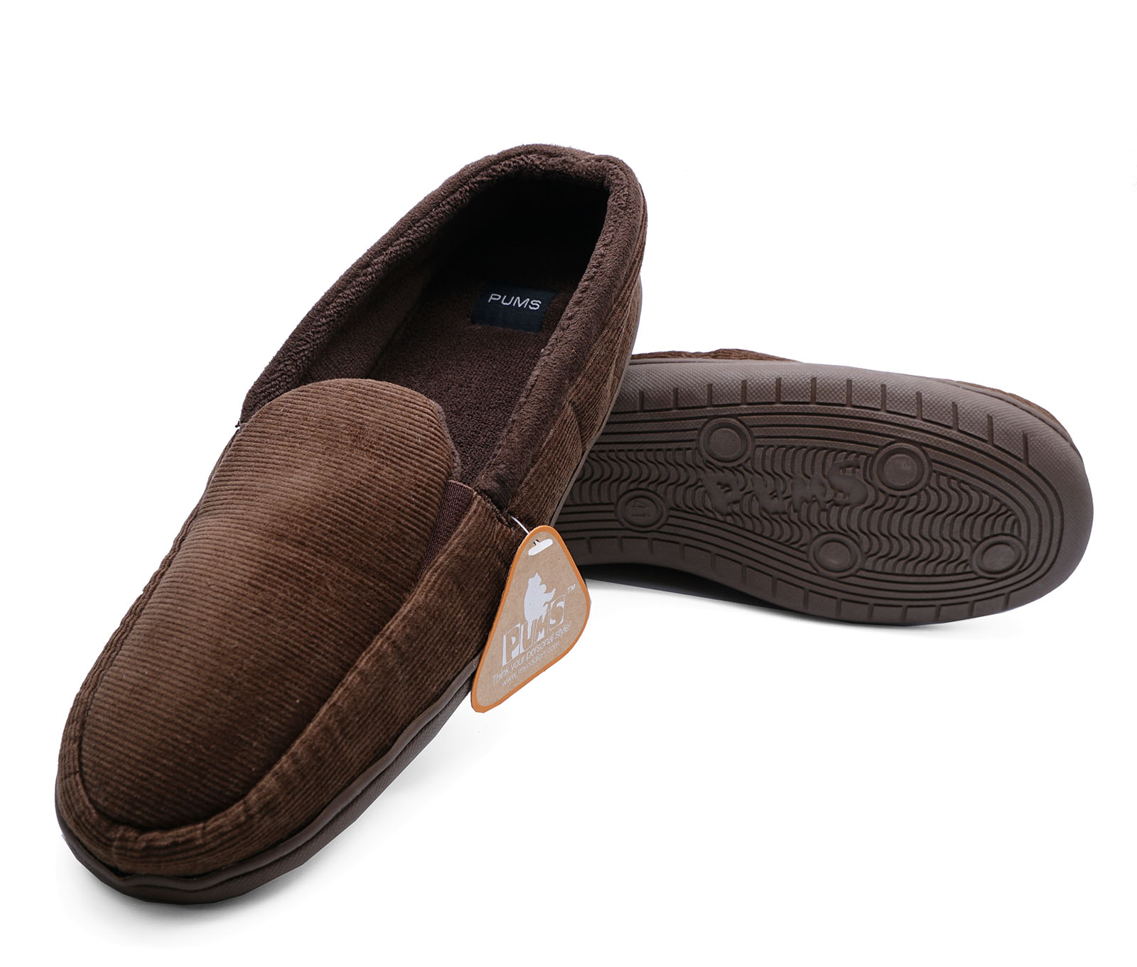 MENS-BROWN-SLIP-ON-INDOOR-FLAT-WARM-COMFY-COOL-SLIPPERS-HOUSE-SHOES-SIZES-7-11 thumbnail 6