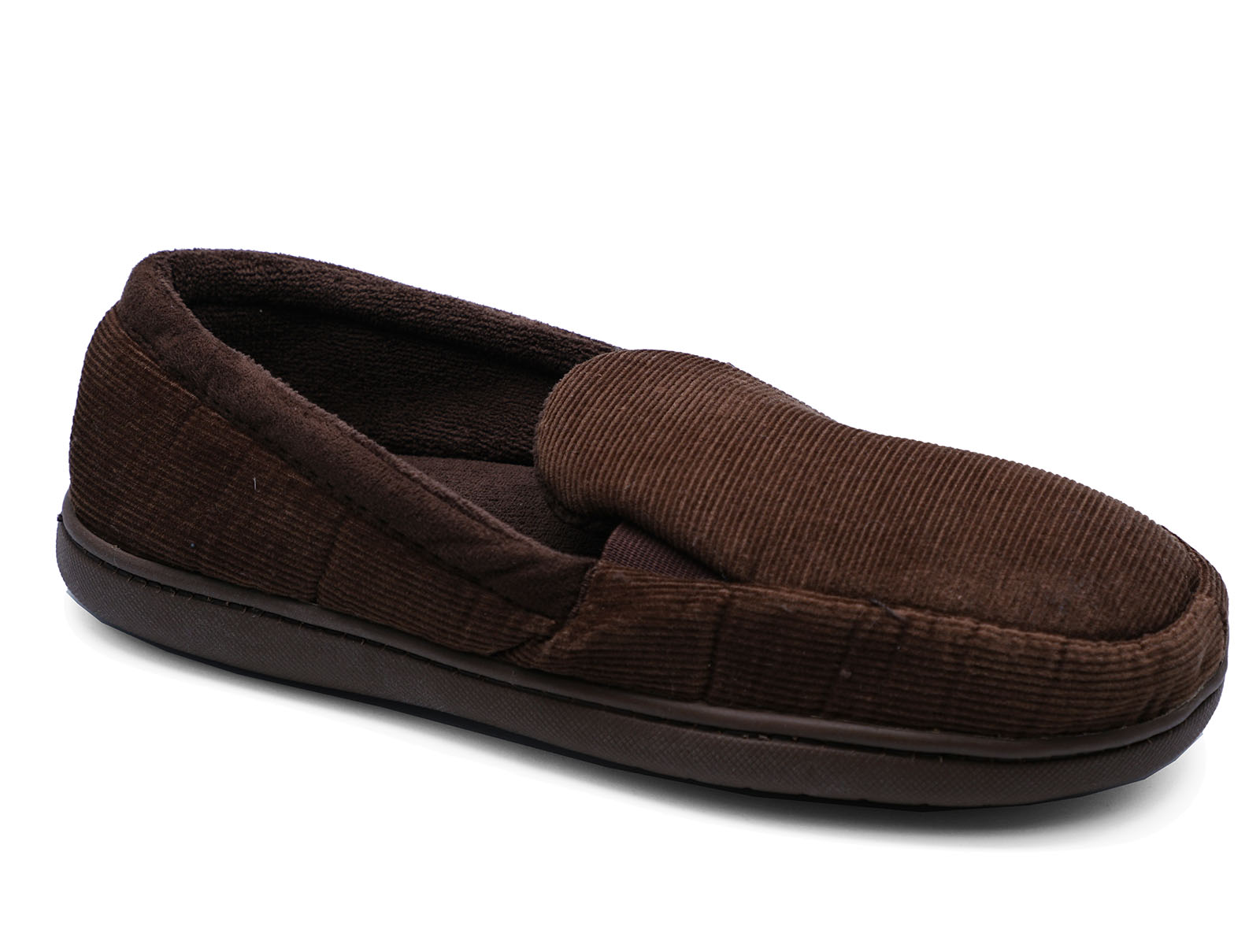 MENS-BROWN-SLIP-ON-INDOOR-FLAT-WARM-COMFY-COOL-SLIPPERS-HOUSE-SHOES-SIZES-7-11 thumbnail 5