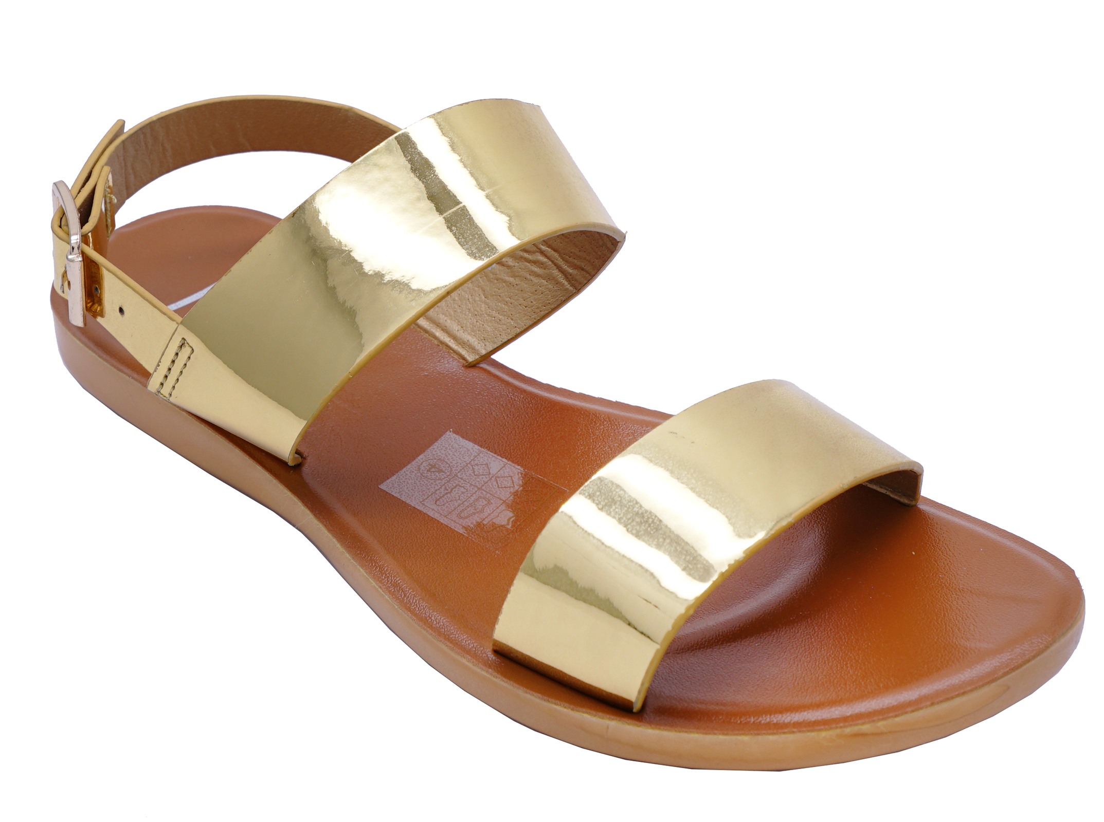 LADIES-FLAT-OPEN-TOE-GOLD-HOLIDAY-WALKING-SUMMER-CASUAL-SANDALS-SHOES-SIZES-3-8 thumbnail 6