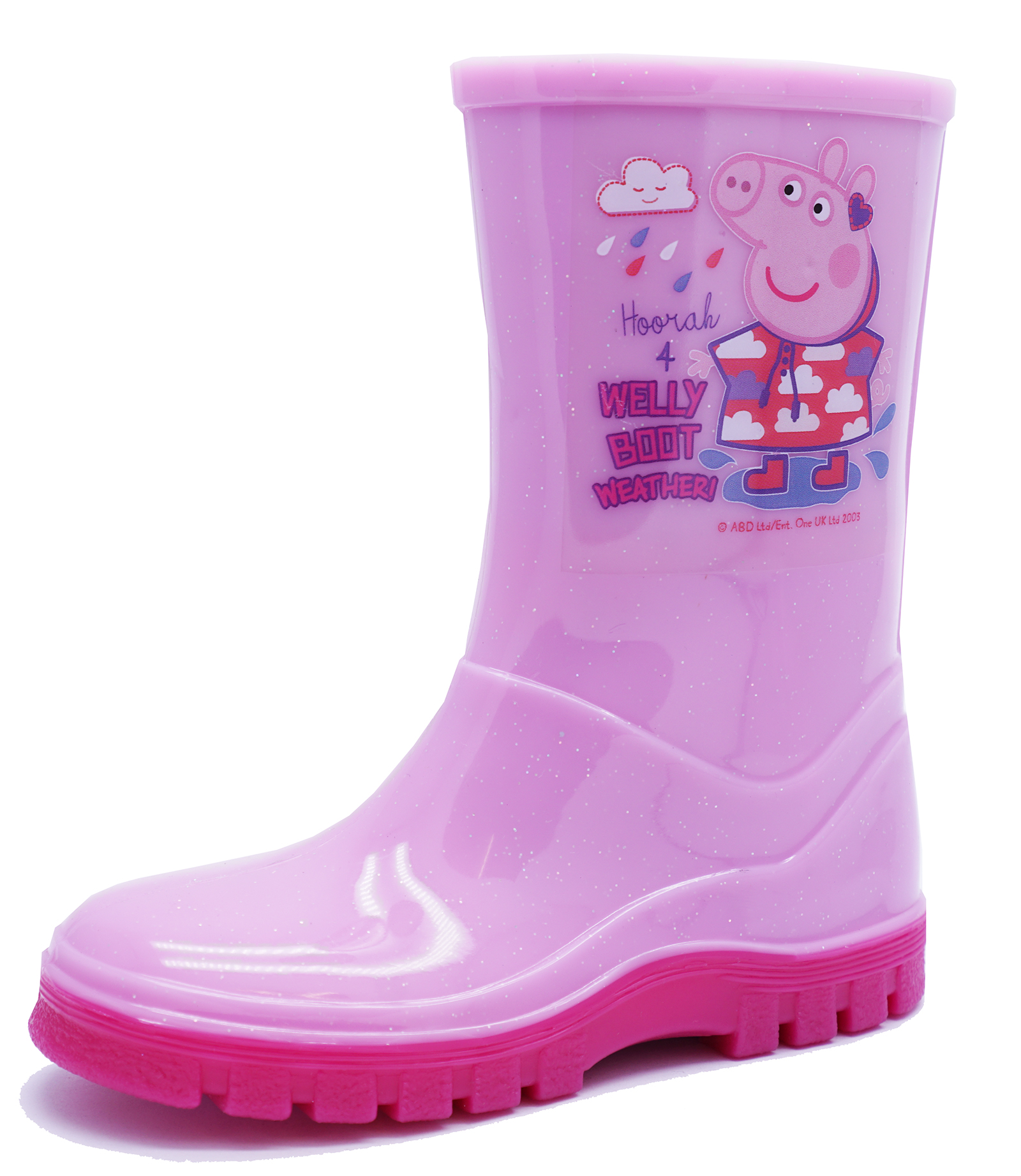 GIRLS PINK PEPPA PIG SPLASH BOOT RUBBER RAIN WELLIES WELLINGTONS KIDS SIZES 4-10
