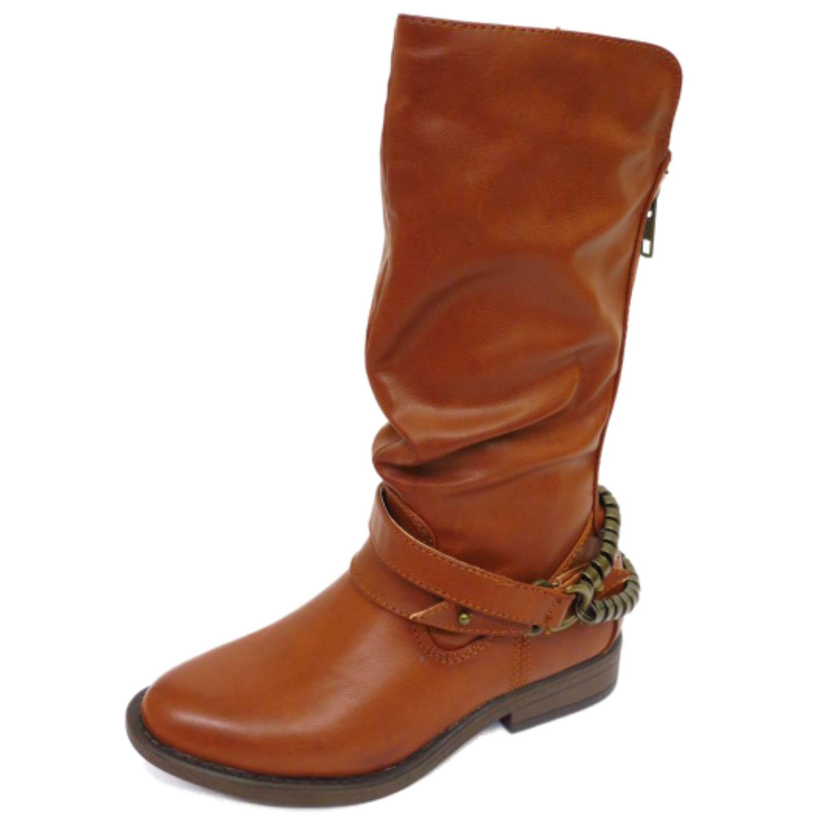 RUCHED COWBOY TALL KNEE-HIGH BOOTS UK