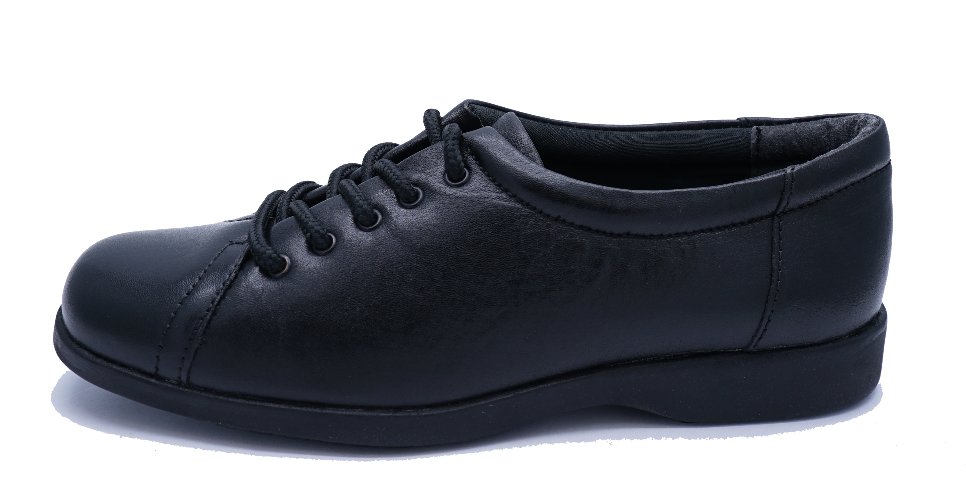 LADIES-BLACK-AMBLERS-LEATHER-LACE-UP-WORK-SCHOOL-SMART-CASUAL-SHOES-SIZE-4 thumbnail 5