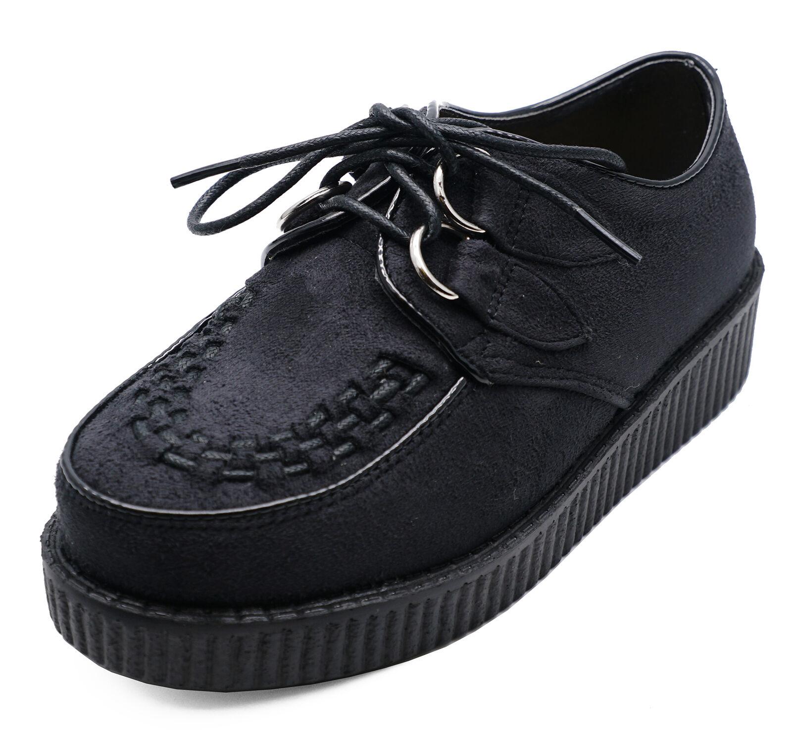 BOYS GIRLS KIDS LACE-UP BLACK FANCY