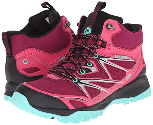 LADIES-MERRELL-CAPRA-BOLT-MID-GORE-TEX-BRIGHT-RED-TRAINER-HIKING-BOOTS-UK-3-7 thumbnail 10