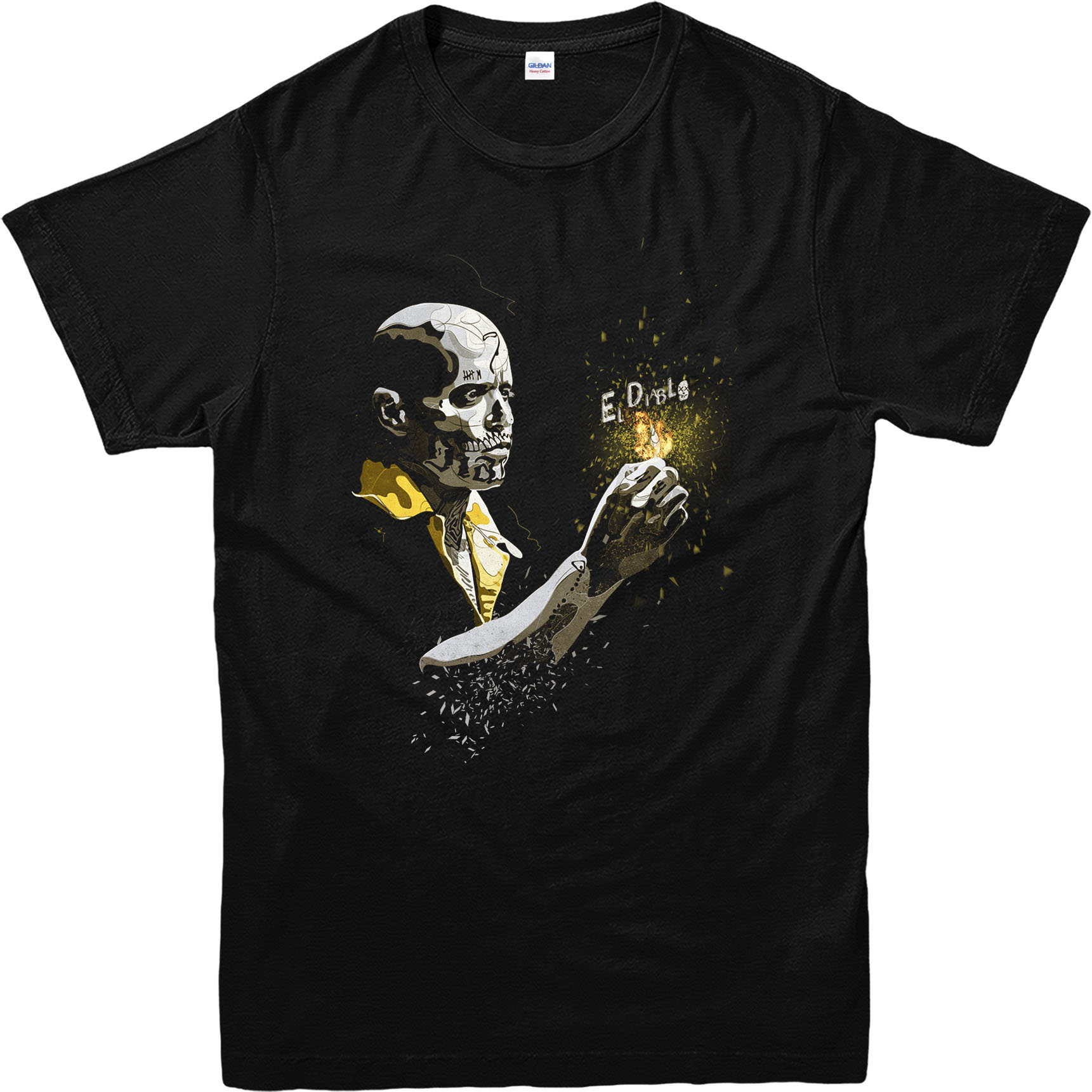 Suicide squad t shirt el diablo dc comics t shirt for Dc t shirt design