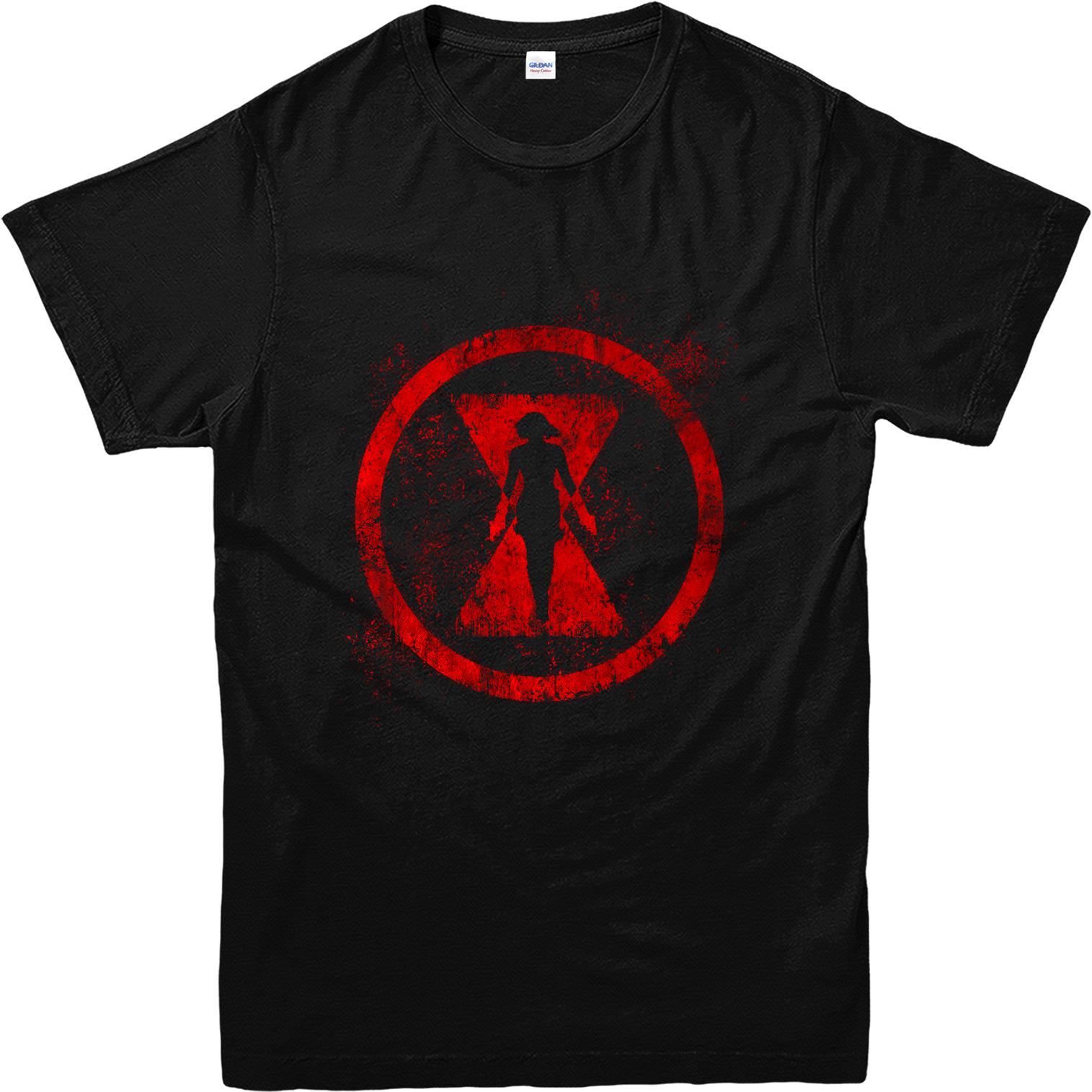 Black Widow T Shirt Avengers Marvel Comics Inspired