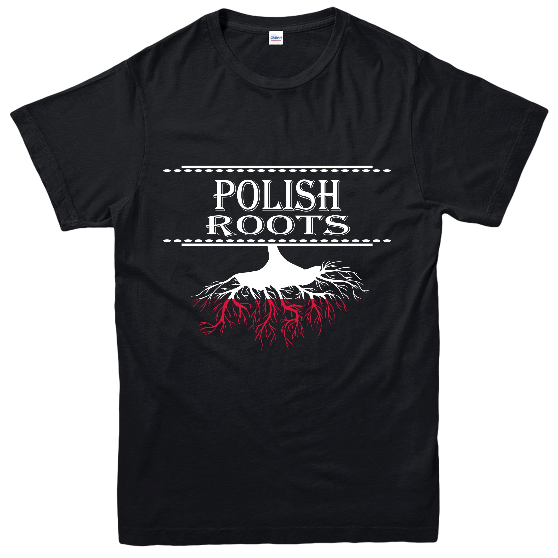 Radici-POLACCO-T-Shirt-Country-Love-orgoglio-della-nazione-patriottismo-Tee-Top