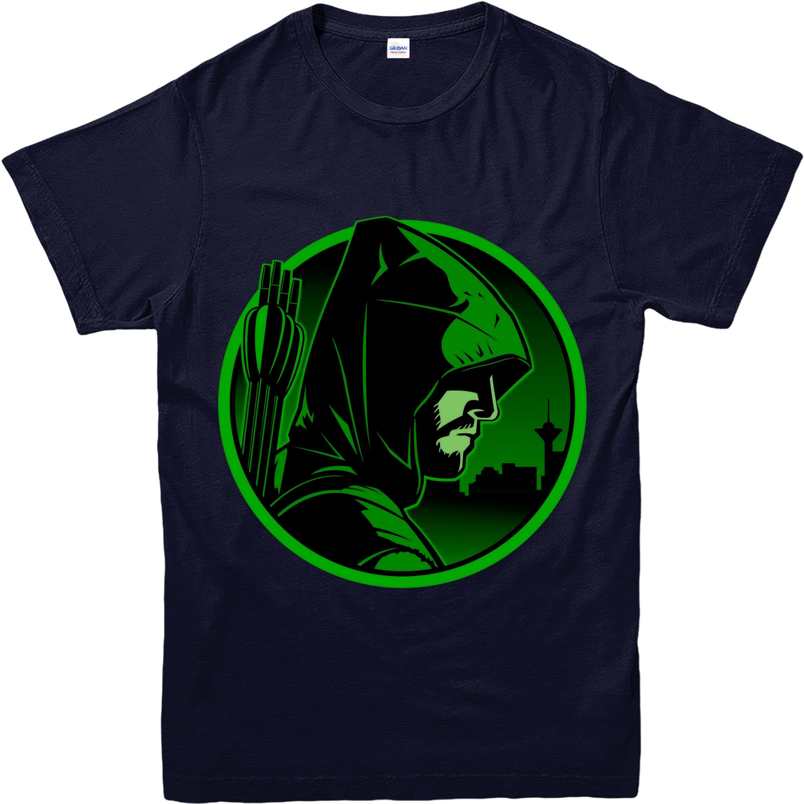 Arrow t shirt dc comics green arrow inspired design top for Dc t shirt design