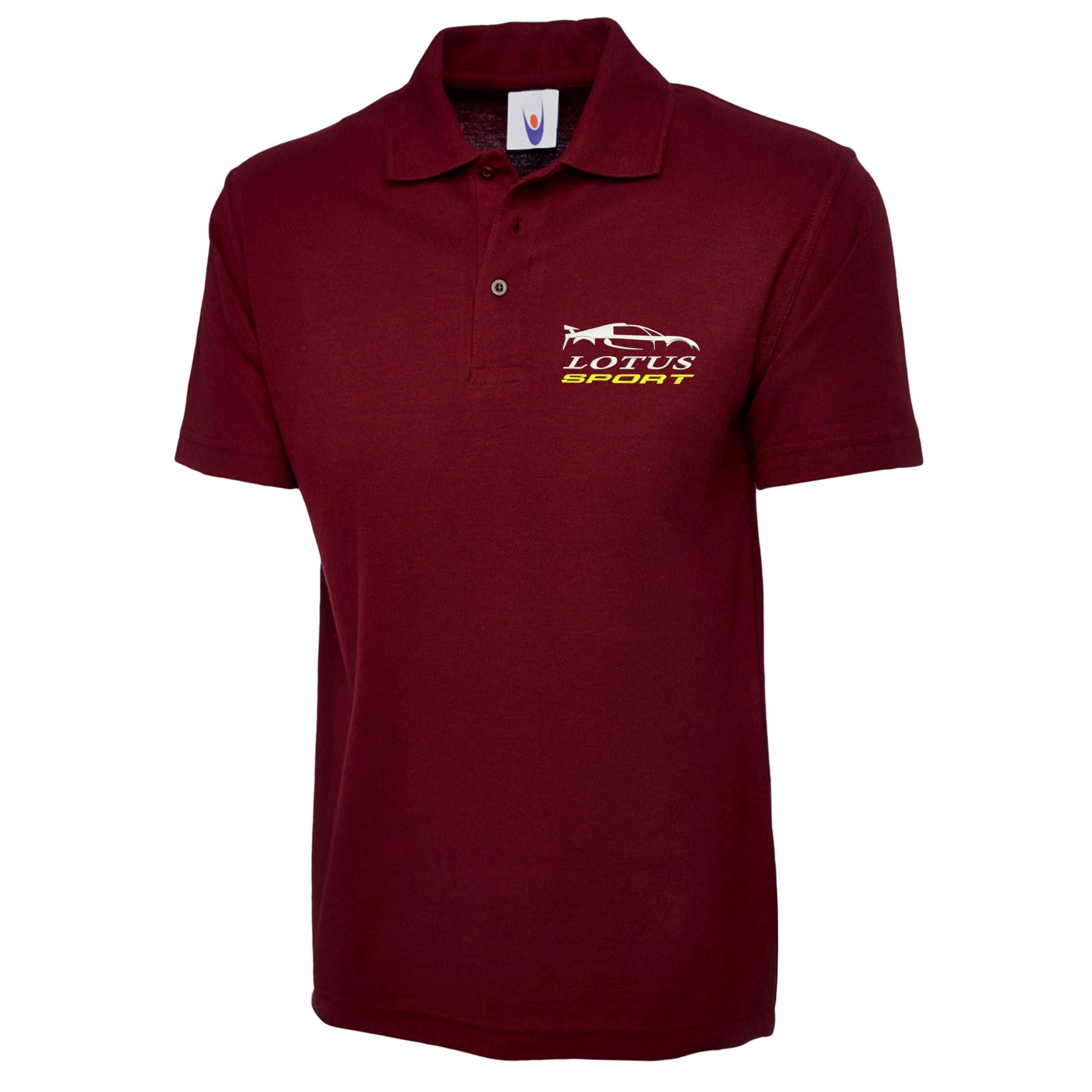 Embroidered Lotus Sports Polo Shirt Workwear Uniform Lotus Sports