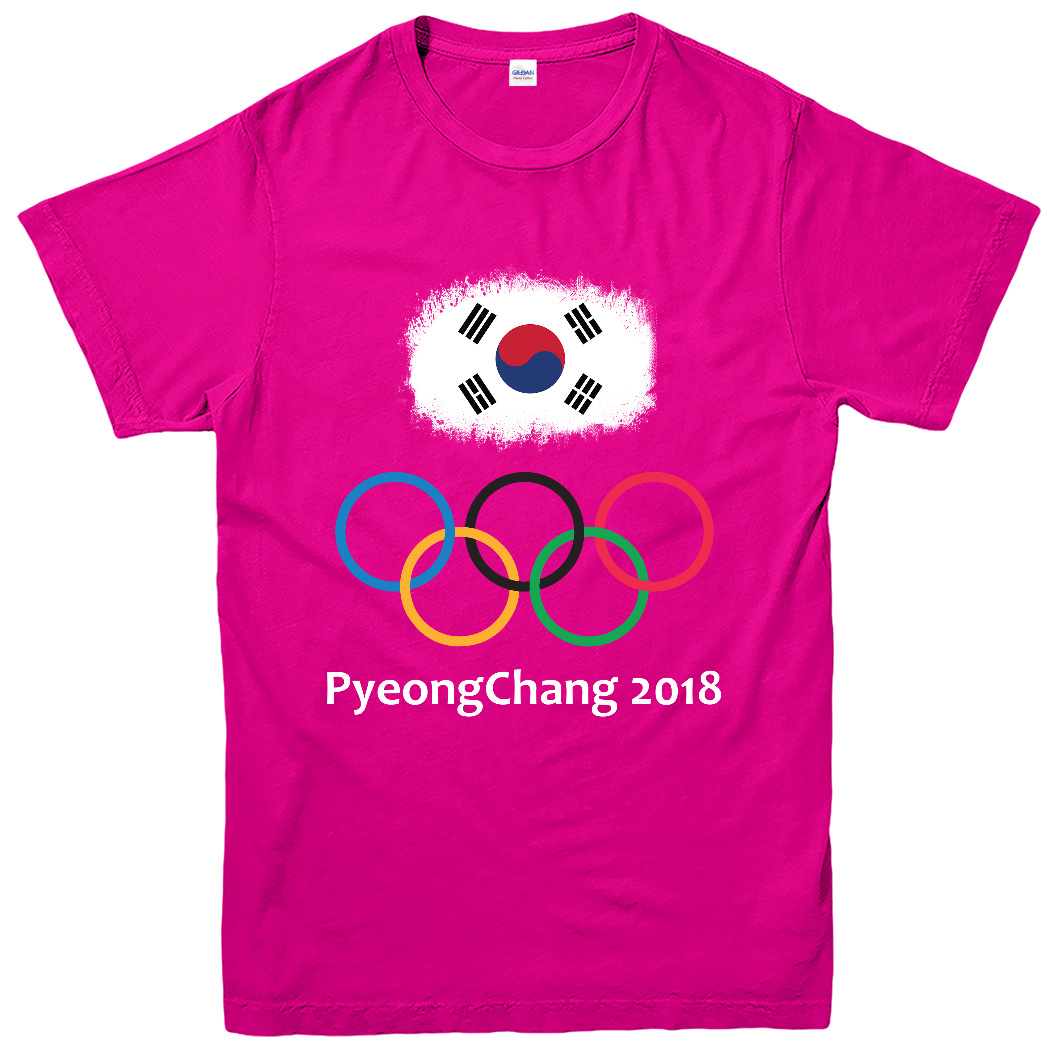 winter olympic 2018 t shirt south korea pyeongchang sports games tee top ebay. Black Bedroom Furniture Sets. Home Design Ideas