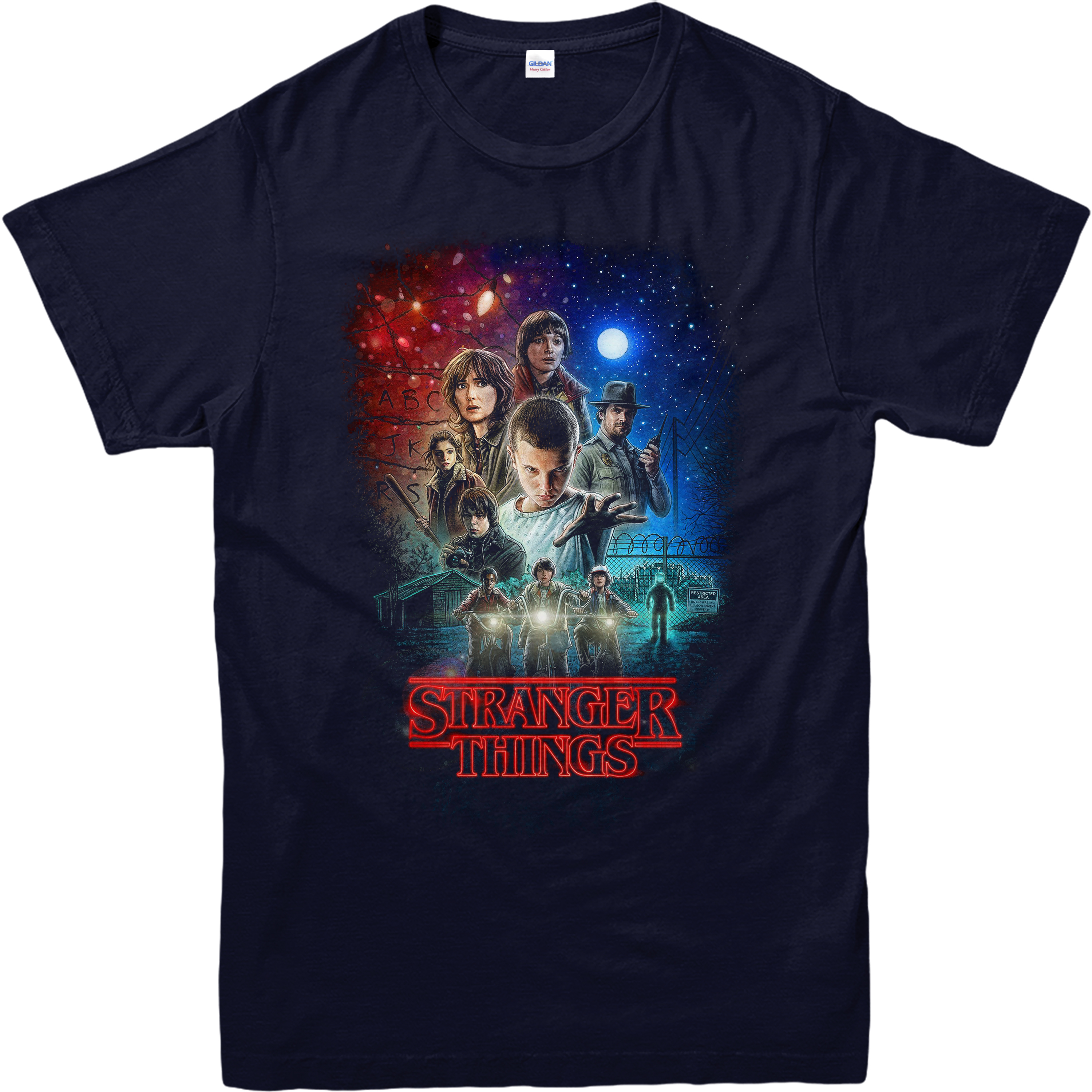 Stranger Things T Shirt Characters Poster T Shirt