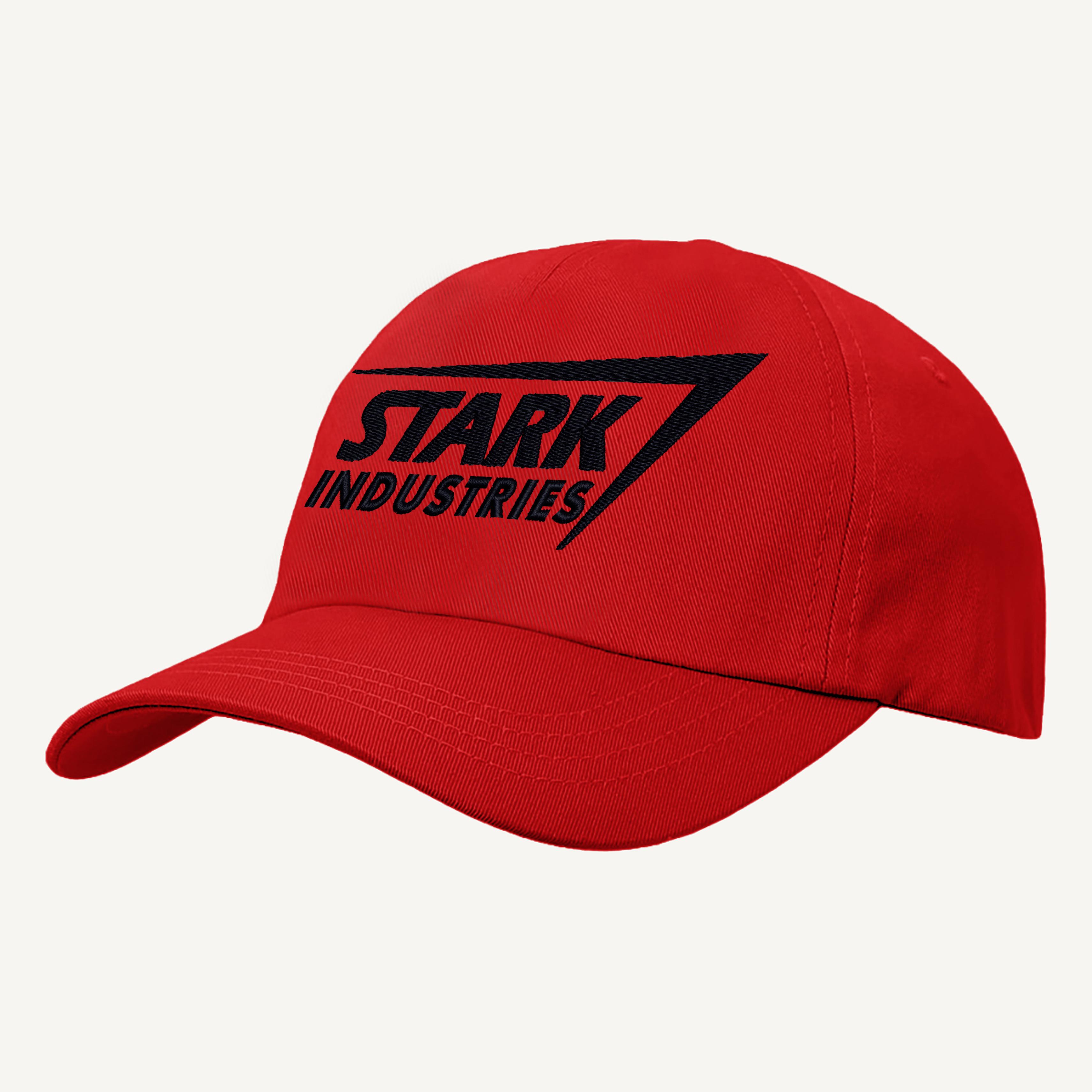 iron man baseball cap stark industries text hat embroidered design