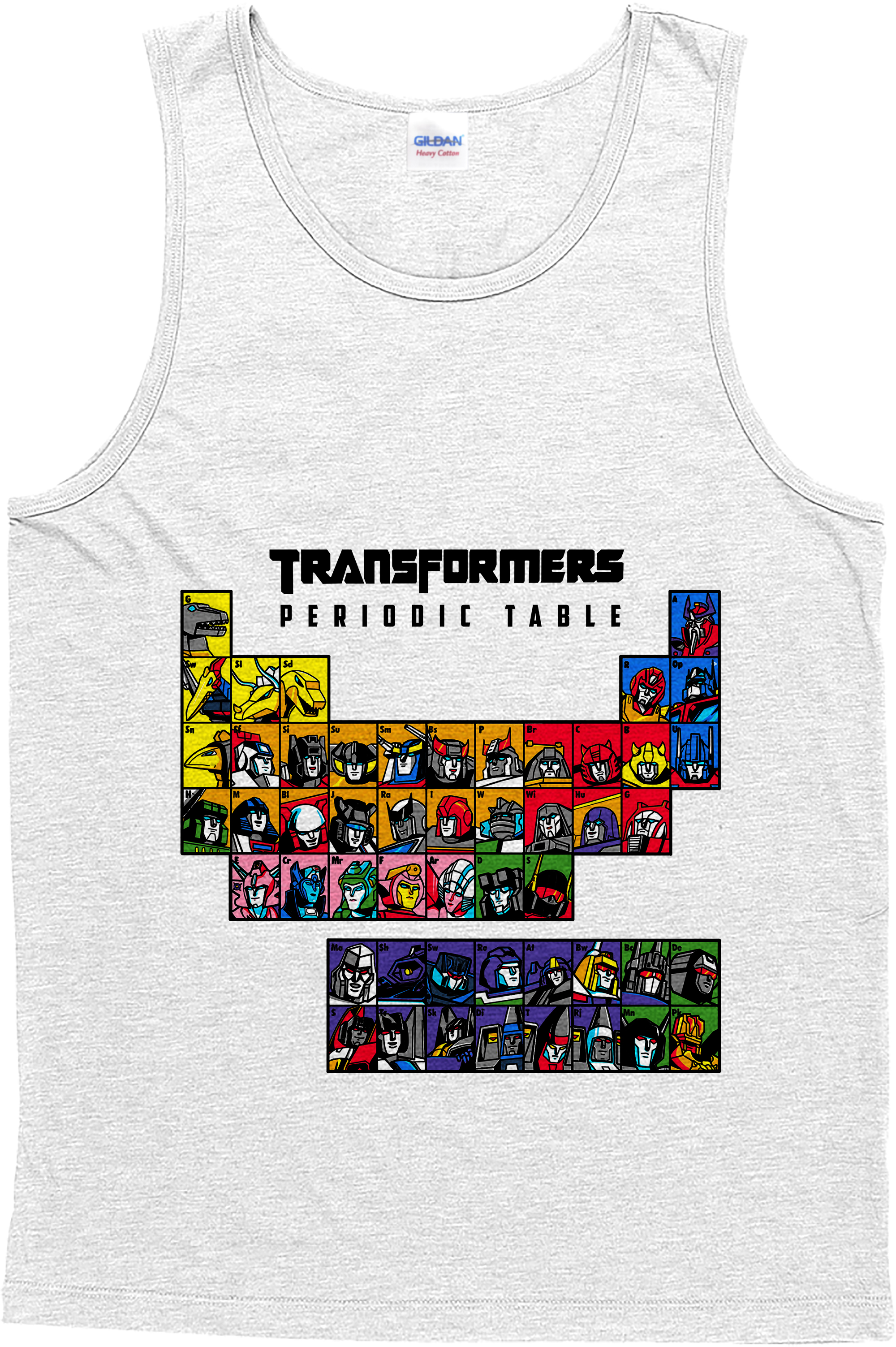 Transformers periodic table spoof vest michael bay hasbro inspired transformers periodic table spoof vest michael bay hasbro urtaz Choice Image