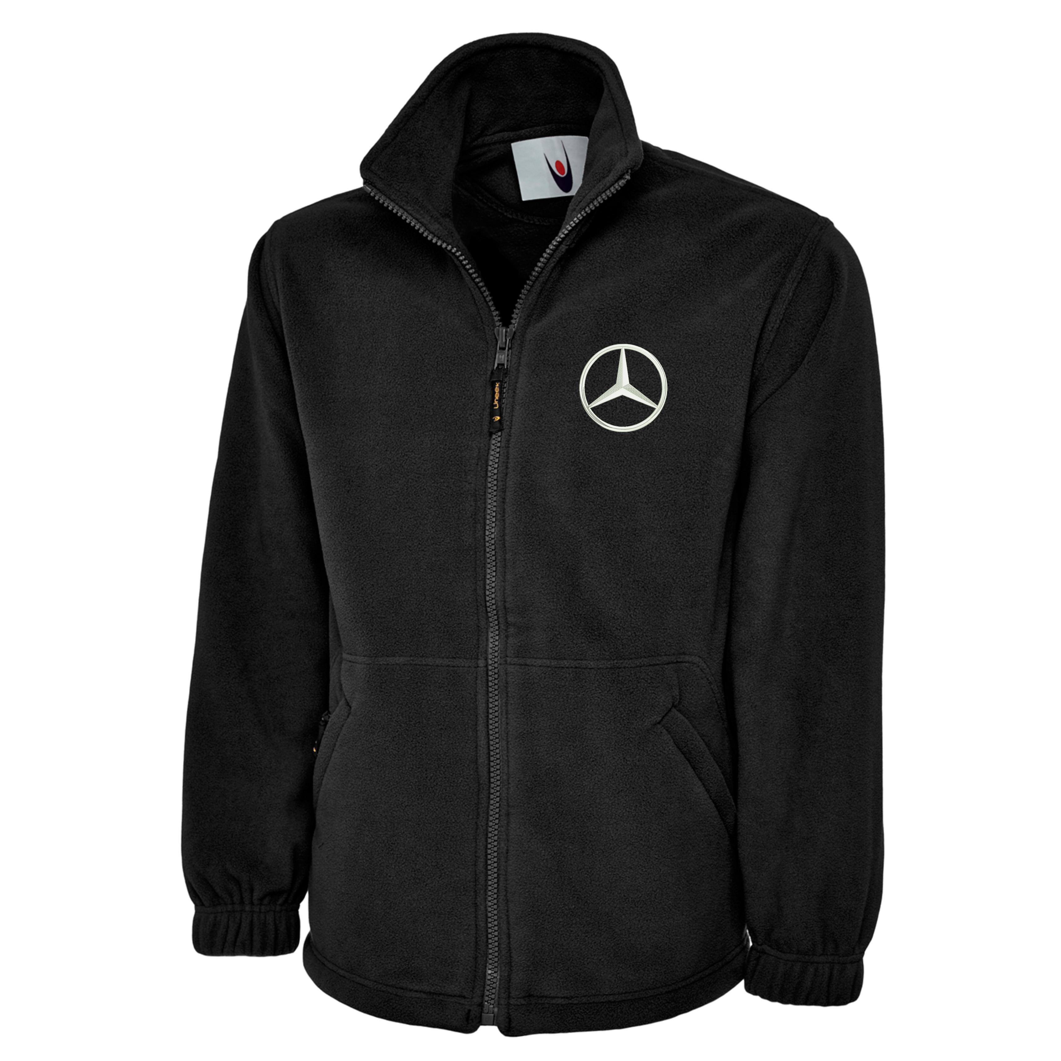 embroidered mercedes logo fleece jacket workwear uniform. Black Bedroom Furniture Sets. Home Design Ideas