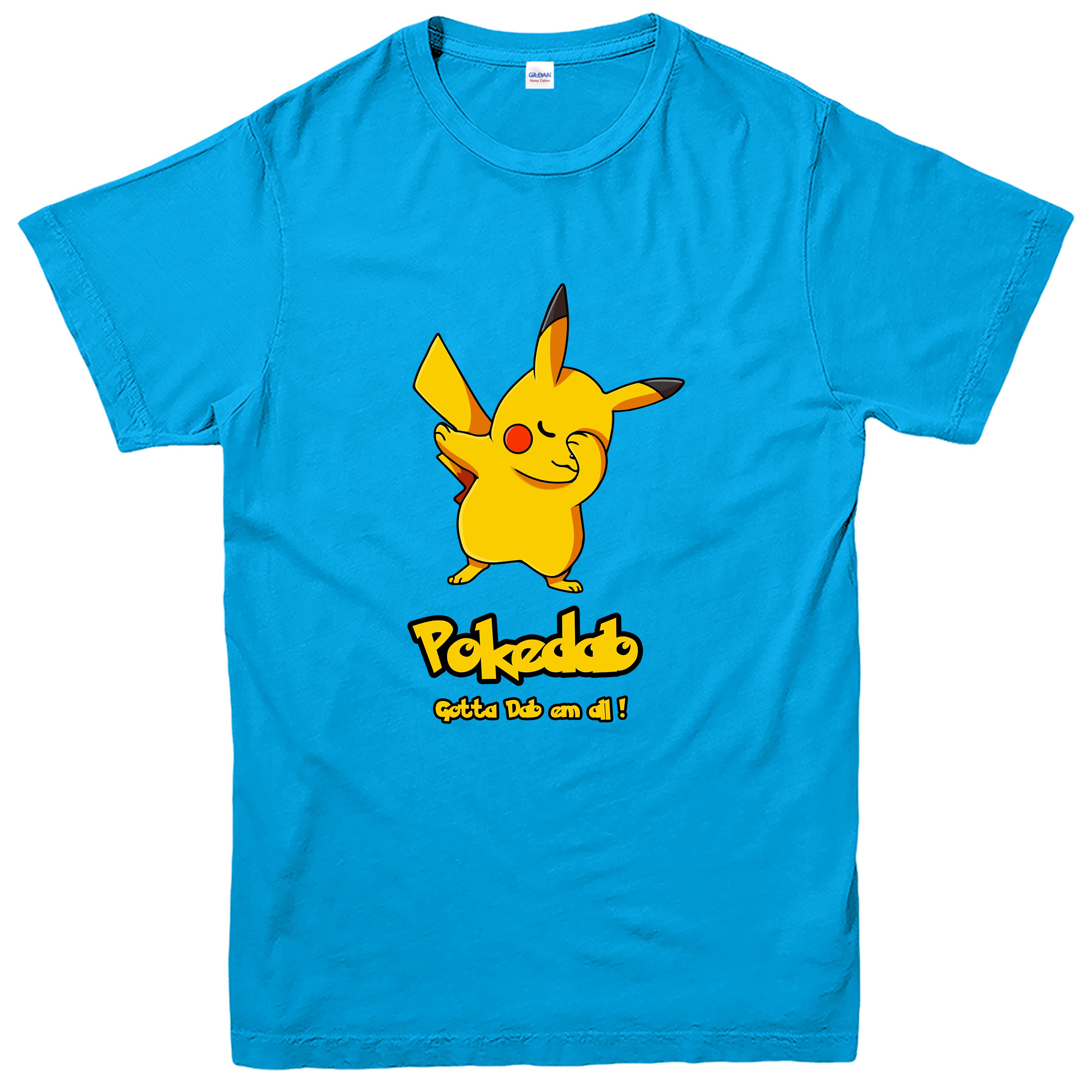 Well-liked Pokedab T-shirt, Pikachu Pokemon Dab em all Spoof Tee Top | eBay FJ46