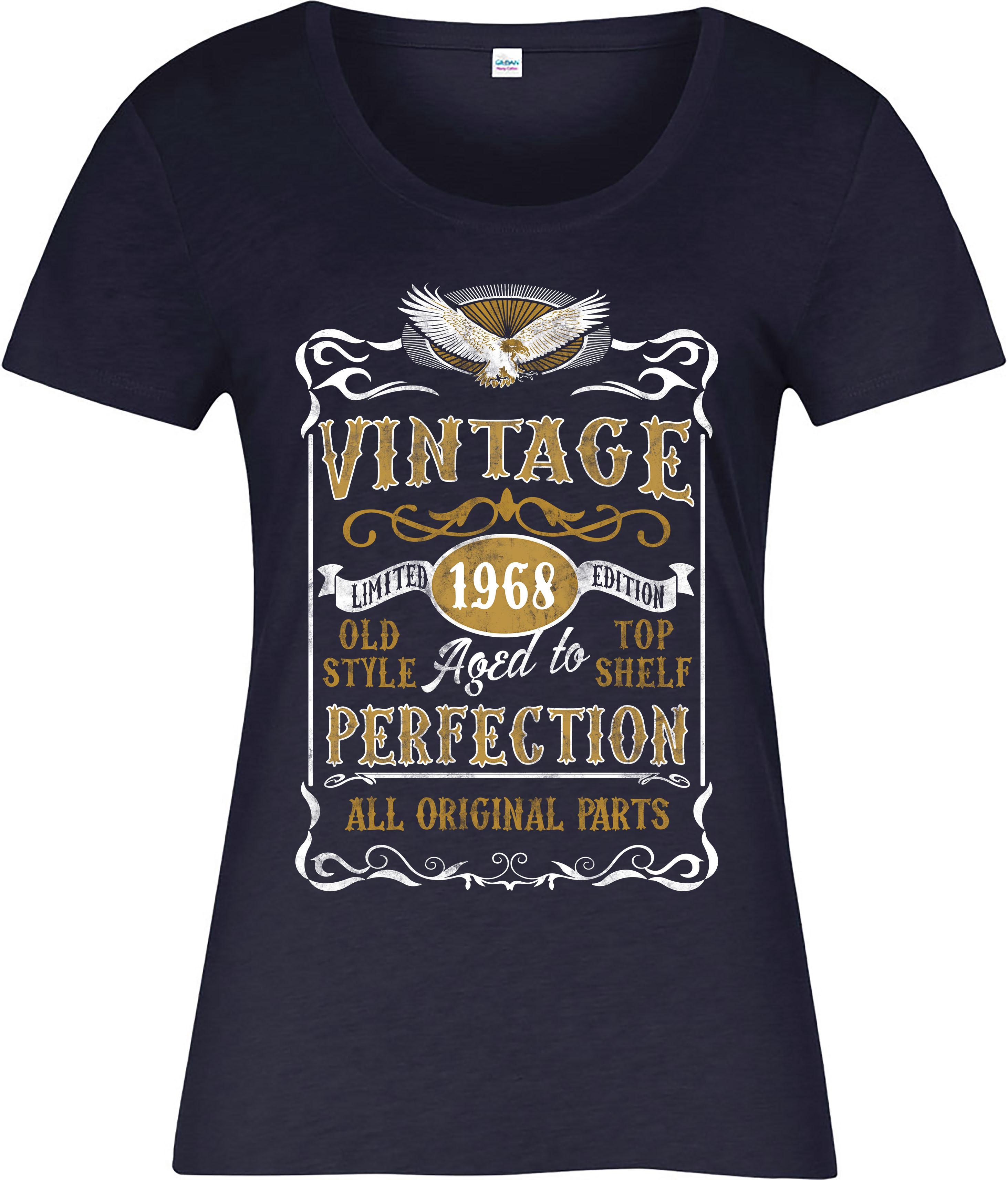 Made in 1968 Vintage Ladies T-Shirt, Born 1968 Birthday ...