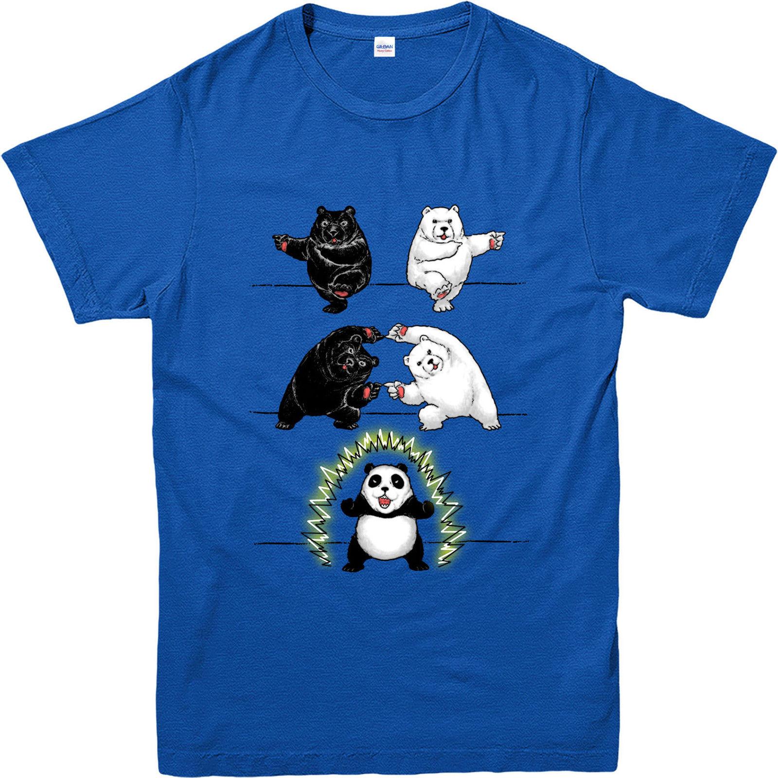 dragon ball z t shirt bear fusion panda t shirt funny. Black Bedroom Furniture Sets. Home Design Ideas