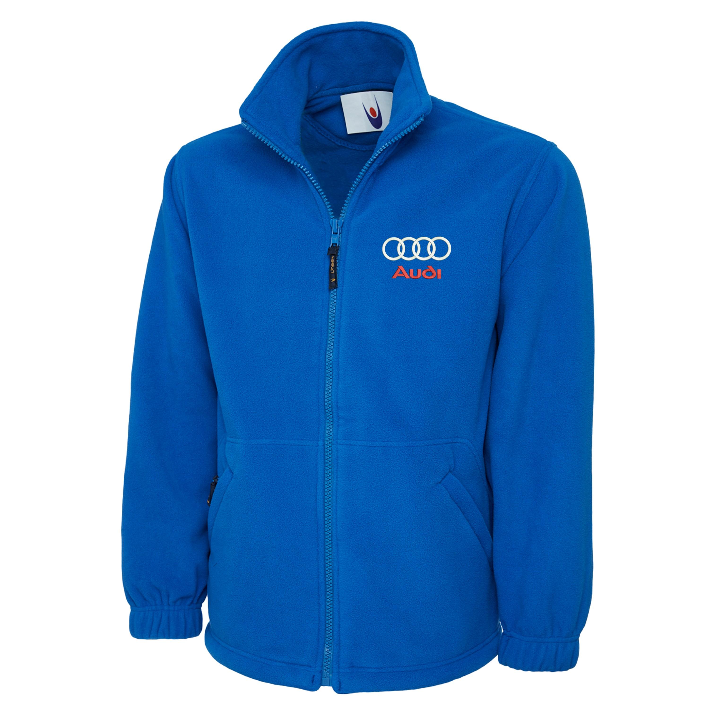 embroidered audi logo fleece jacket workwear uniform audi sports top ebay. Black Bedroom Furniture Sets. Home Design Ideas