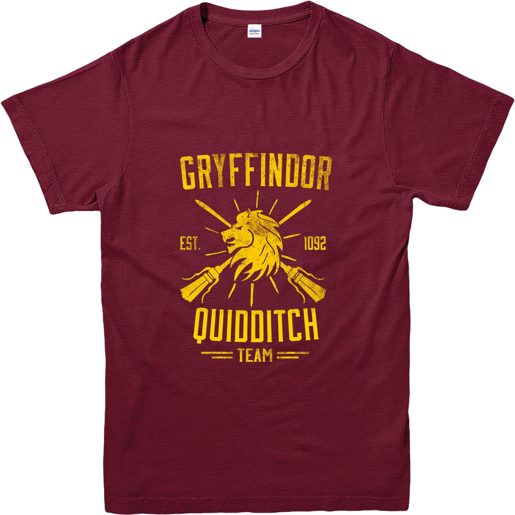harry potter t shirt quidditch team gryffindor t shirt inspired design top ebay. Black Bedroom Furniture Sets. Home Design Ideas