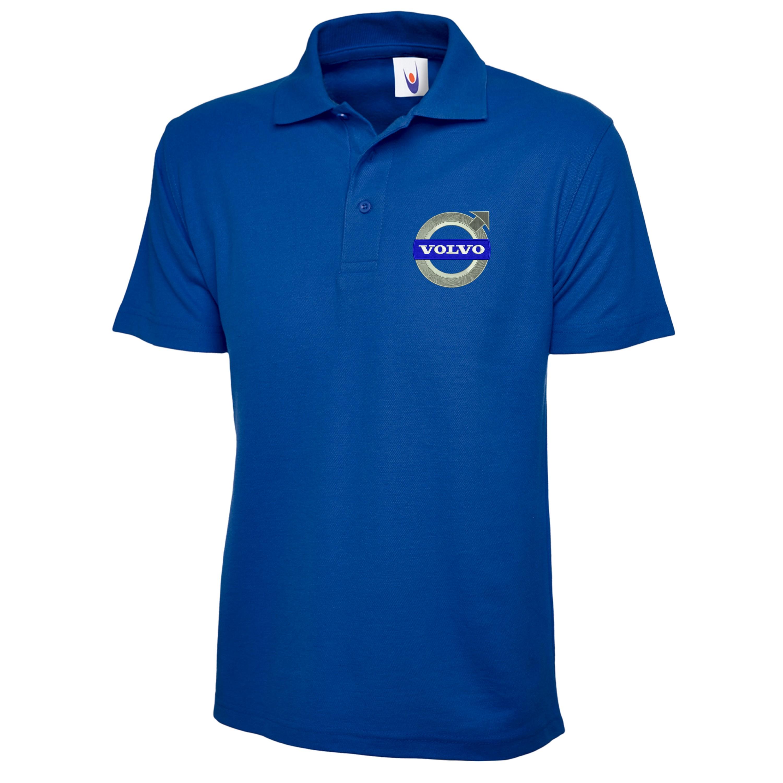 Embroidered Volvo Logo Polo Shirt Workwear Uniform Volvo Sports Top