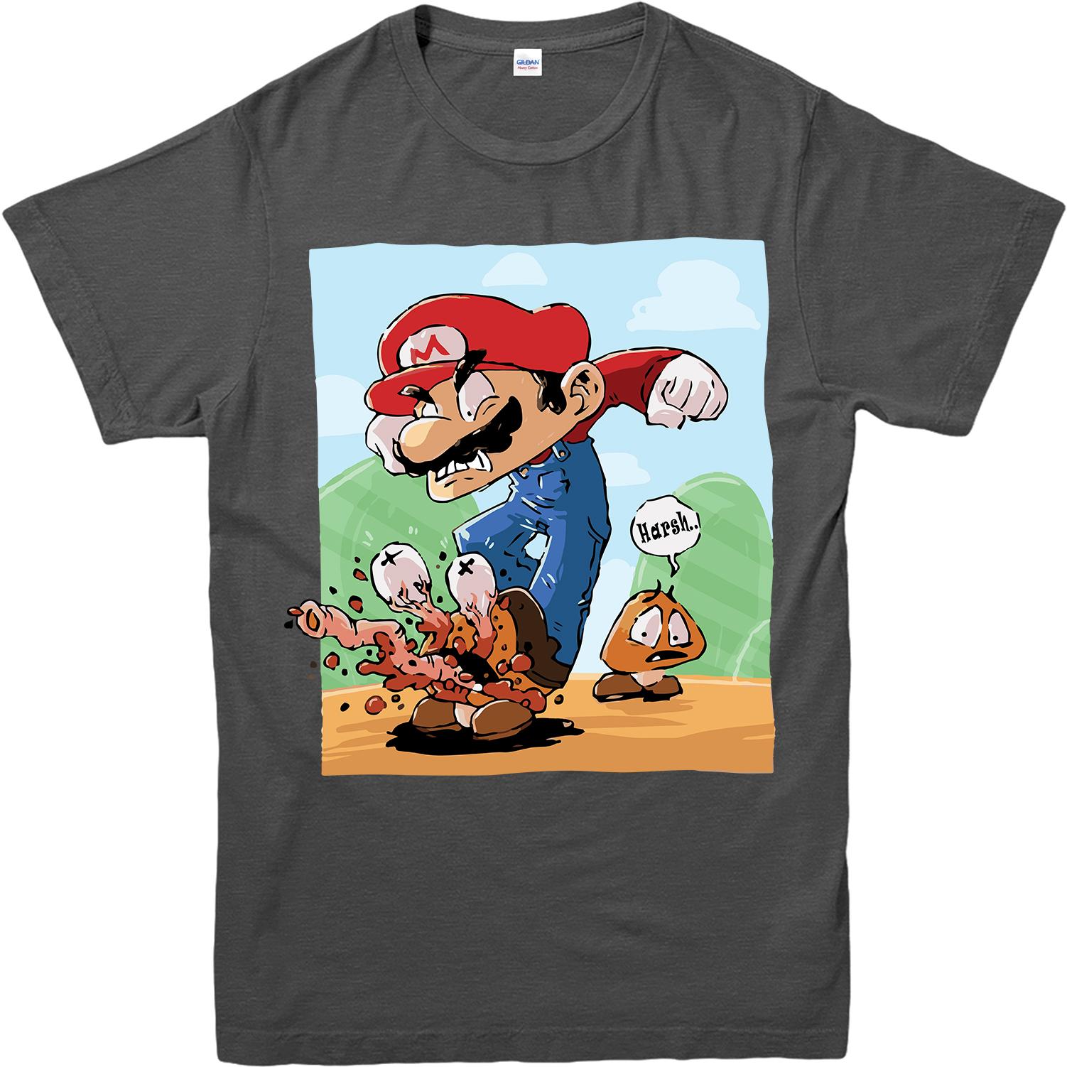 Super Mario T Shirt Mario And Goomba T Shirt Inspired