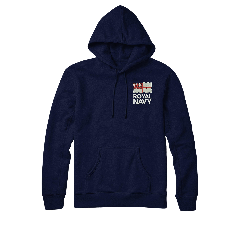 5354498b1 Royal Navy Logo Hoodie, British Army Inspired Embroidered Hoodie Top ...