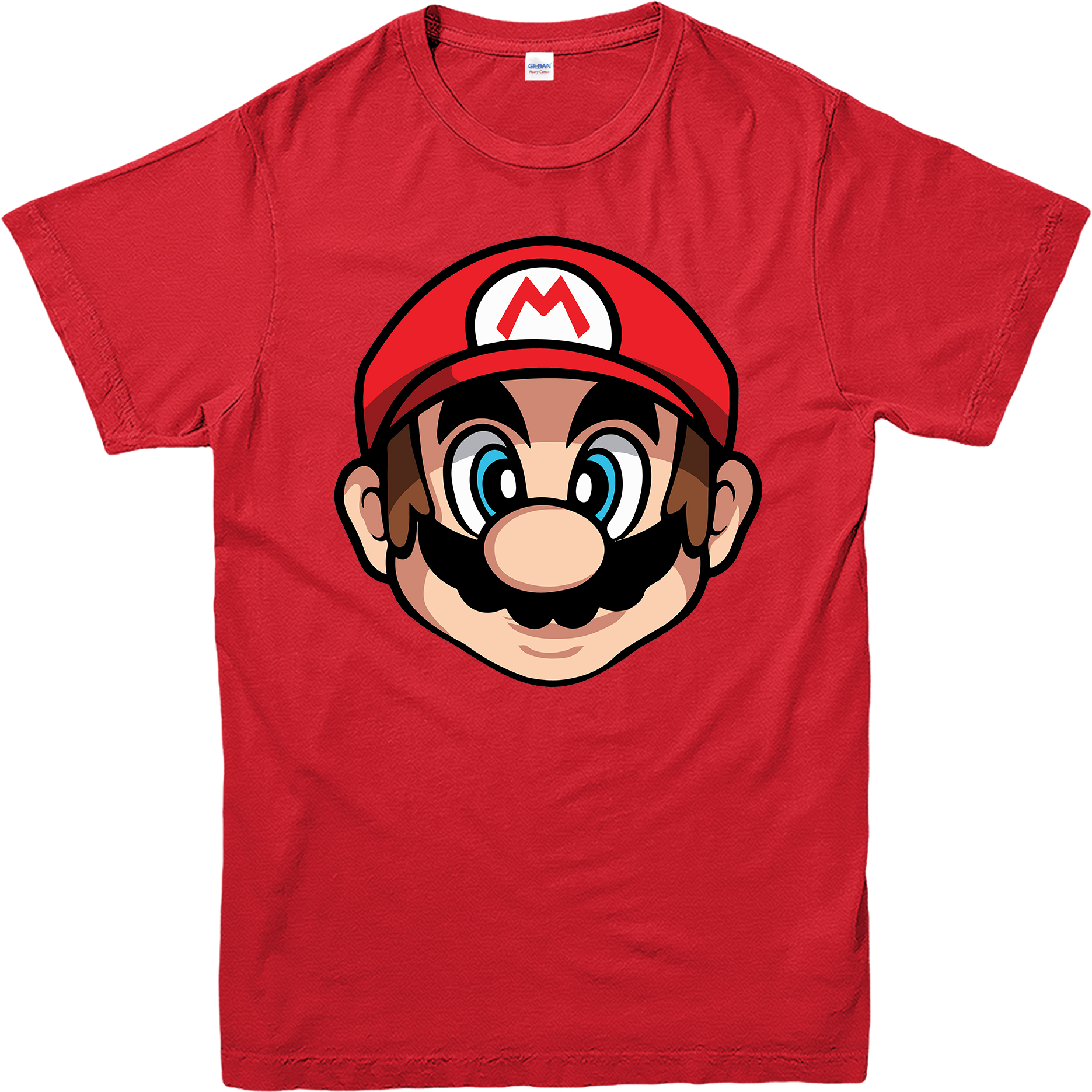 Supermario t shirt super mario face spoof t shirt gaming for Where can i sell t shirts