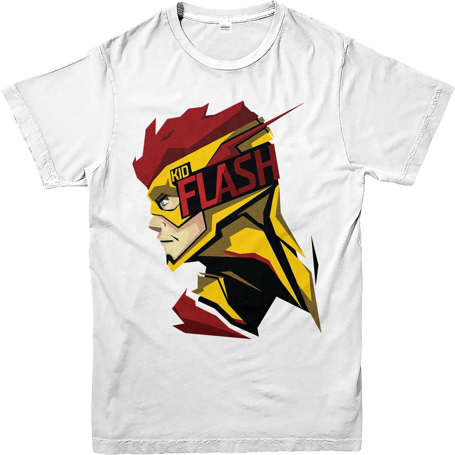 flash t shirt kid flash spoof t shirt inspired design top kfsf ebay. Black Bedroom Furniture Sets. Home Design Ideas